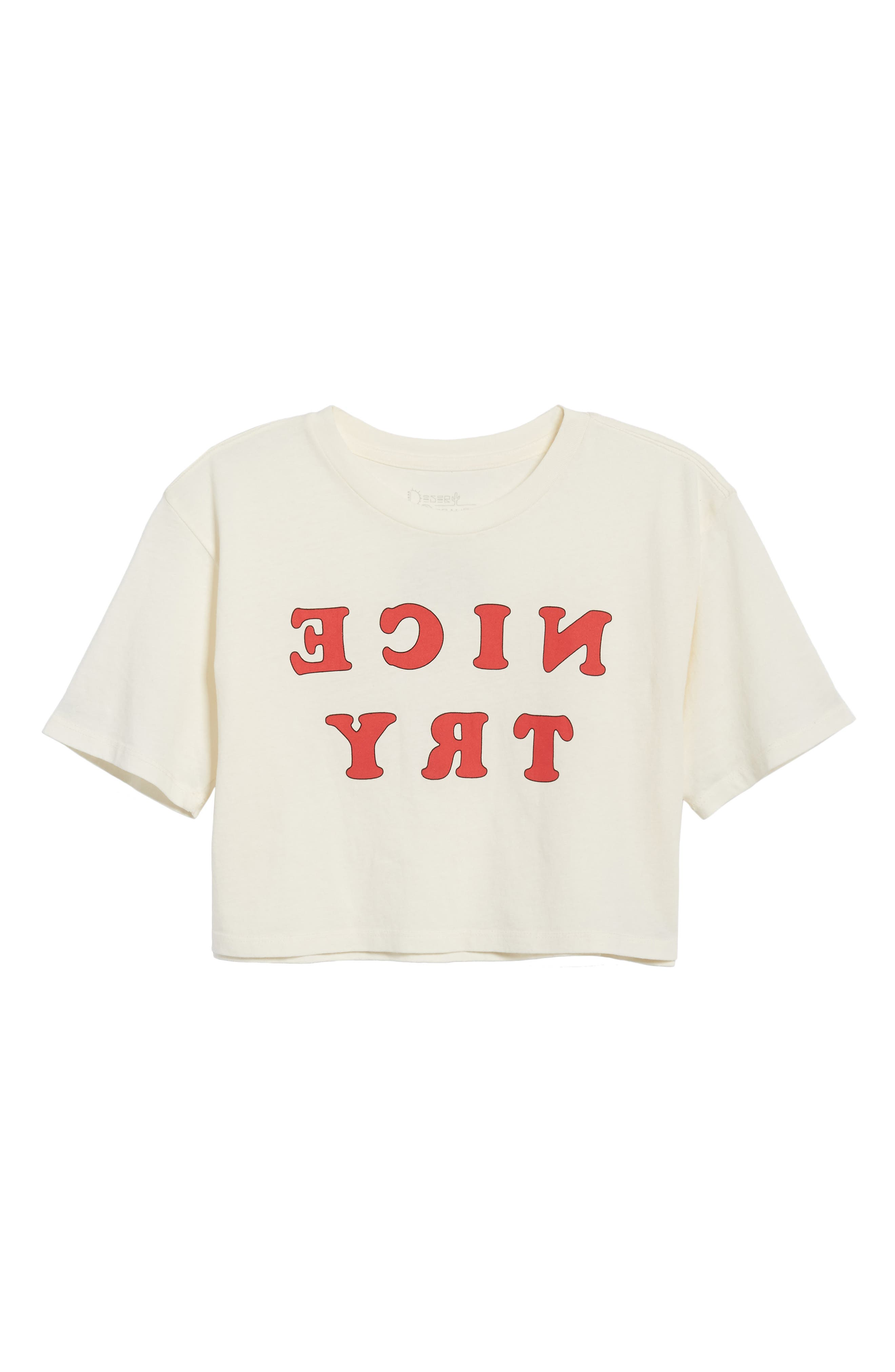 Nice Try Crop Tee,                             Alternate thumbnail 7, color,                             Washed Ivory