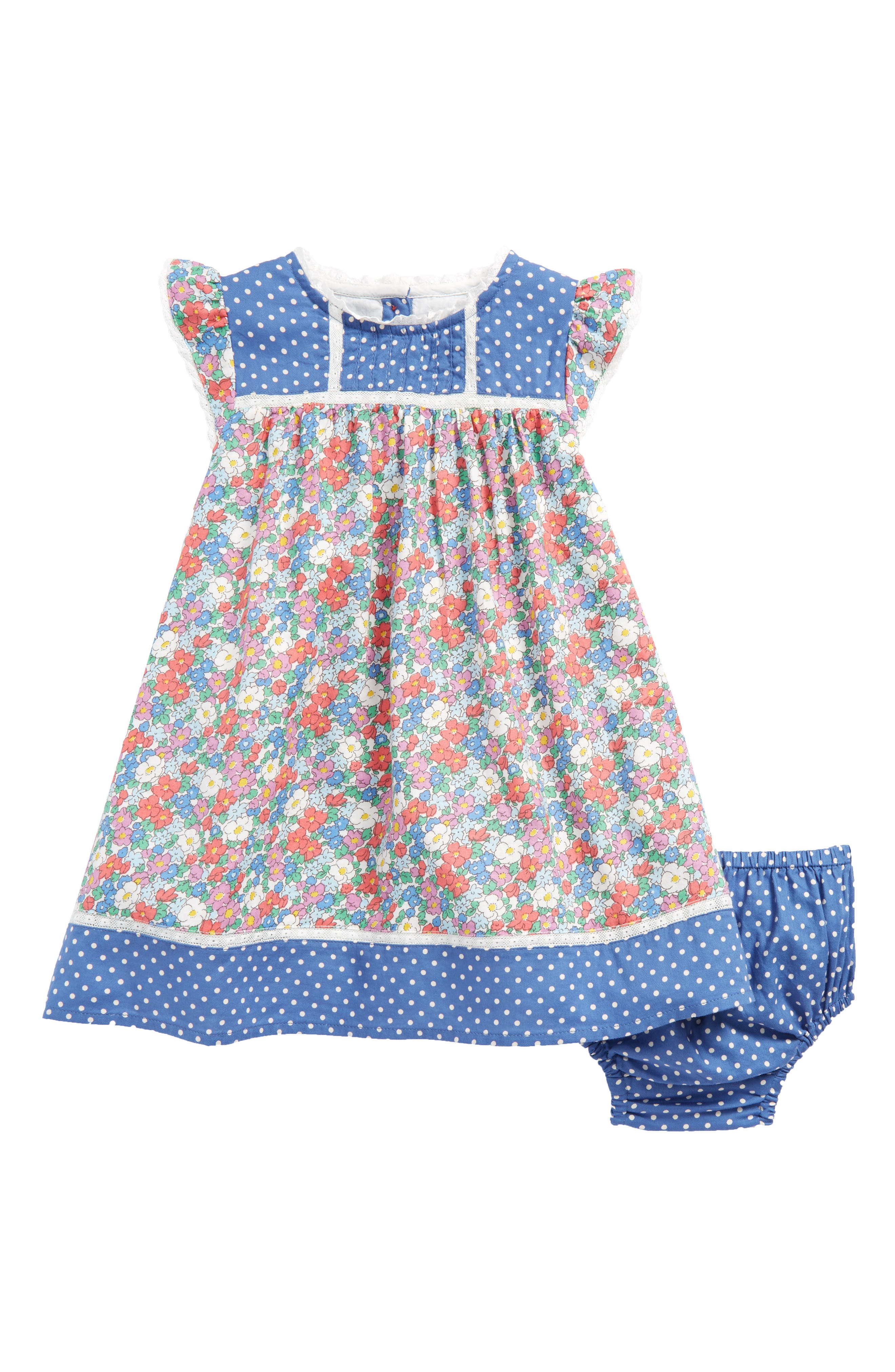 Mini Boden Hotchpotch Woven Dress (Baby Girls & Toddler Girls)