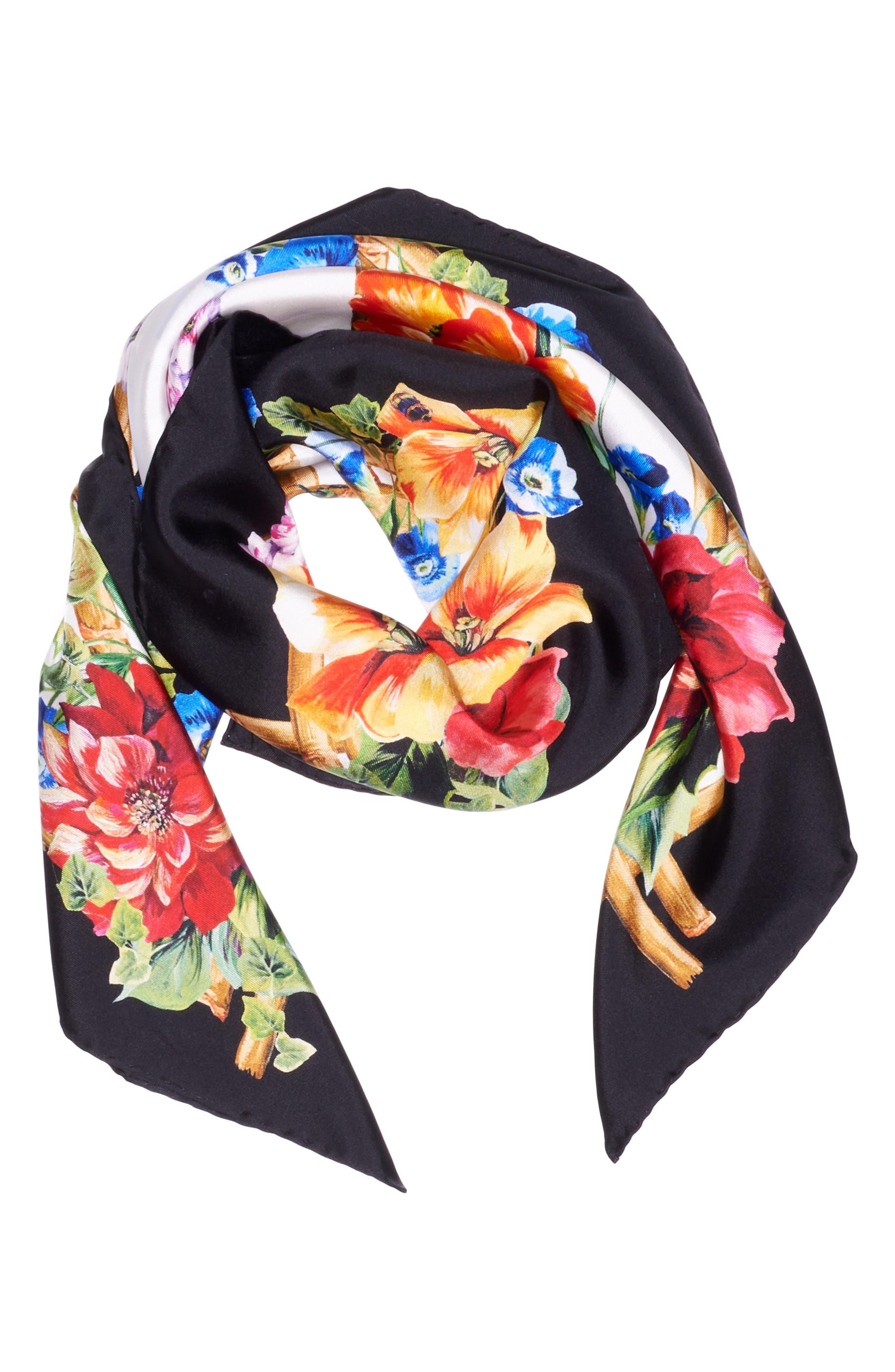Dolce&Gabbana Tiger Silk Scarf