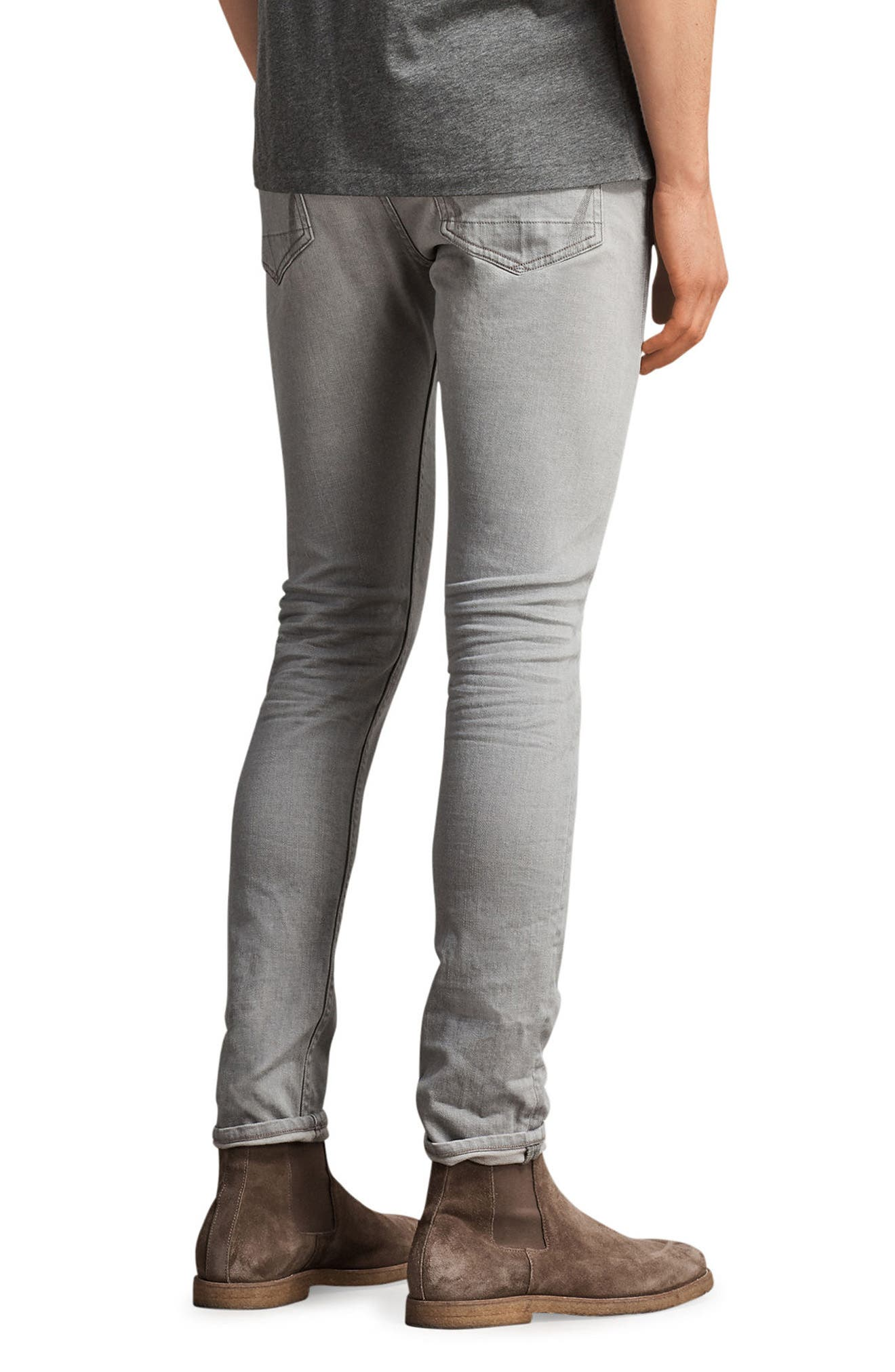 Ghoul Skinny Fit Jeans,                             Alternate thumbnail 2, color,                             Grey