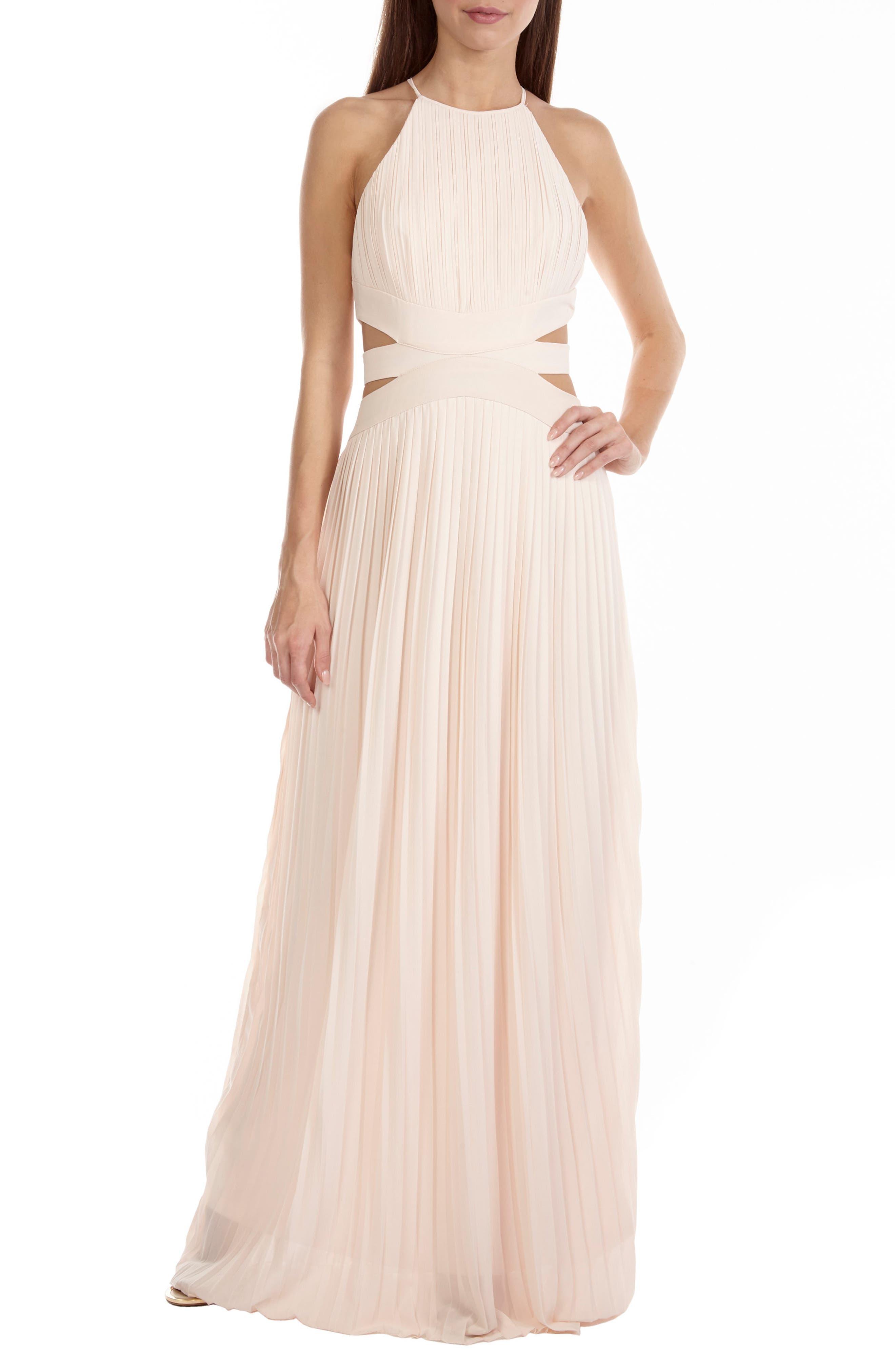 Boston Cutout Maxi Dress,                         Main,                         color, Nude