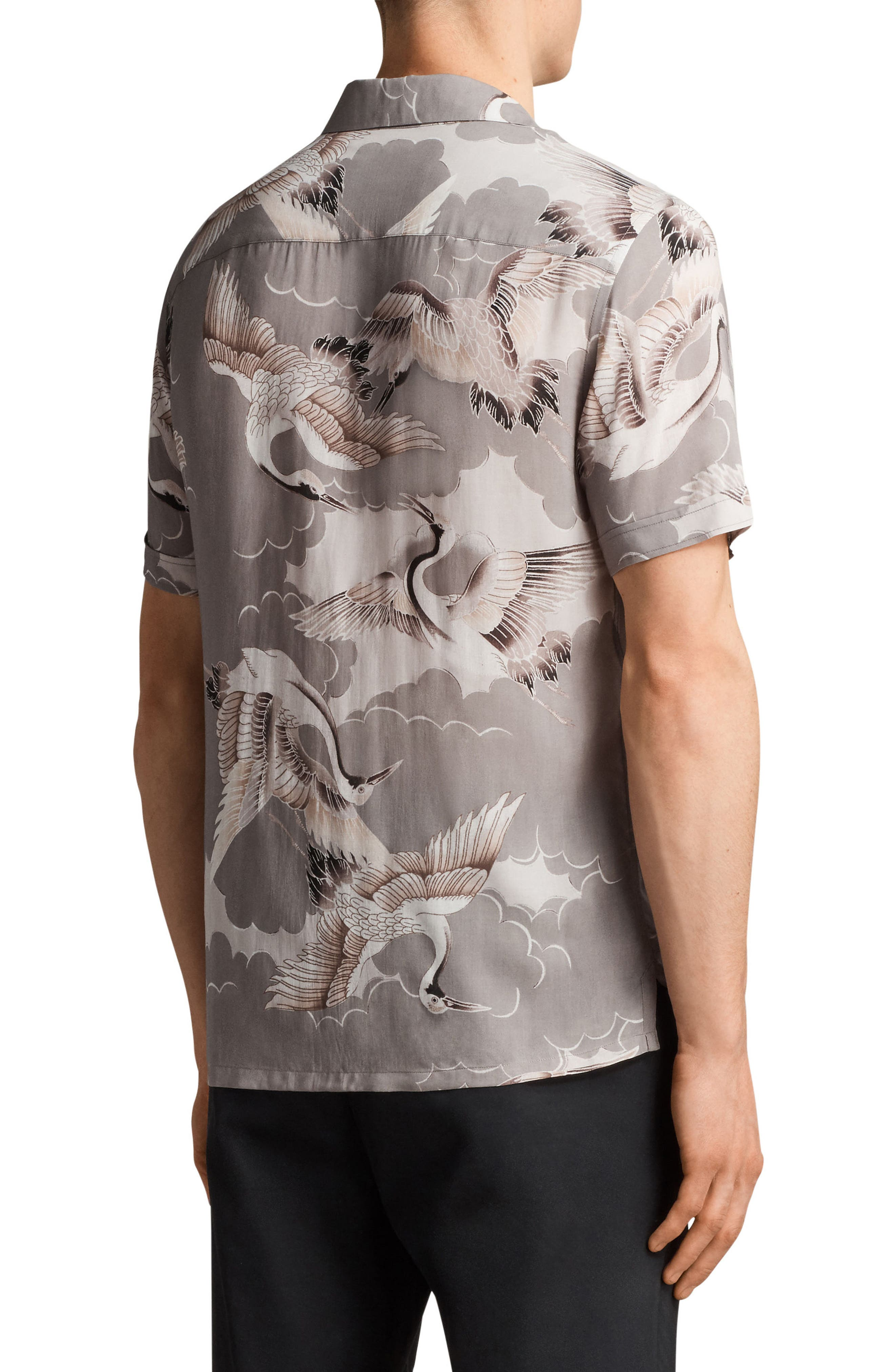 Alternate Image 2  - ALLSAINTS Romanji Slim Fit Short Sleeve Sport Shirt