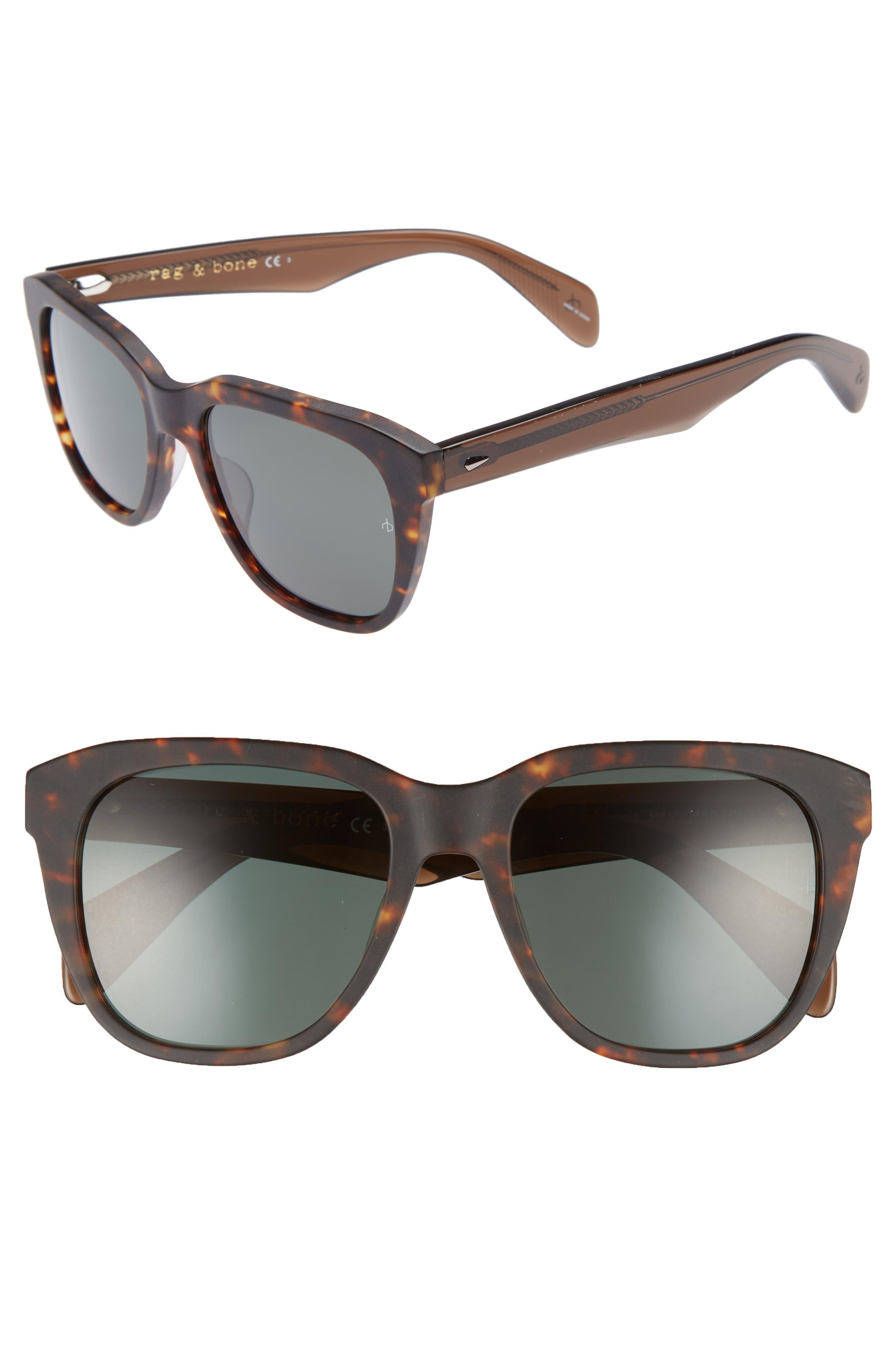 54mm Sunglasses,                         Main,                         color, Matte Havana