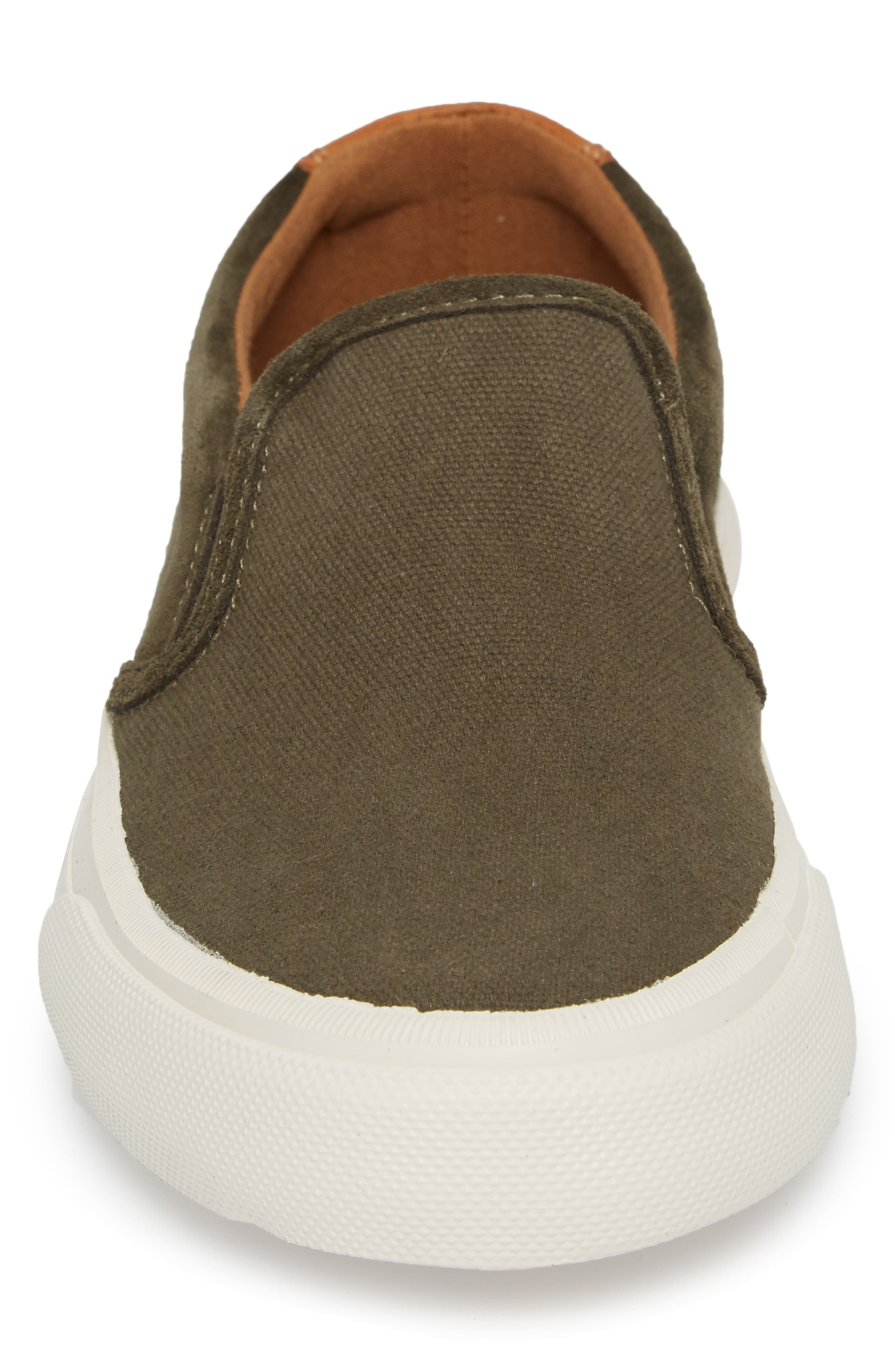 Ludlow Slip-On,                             Alternate thumbnail 4, color,                             Olive Canvas