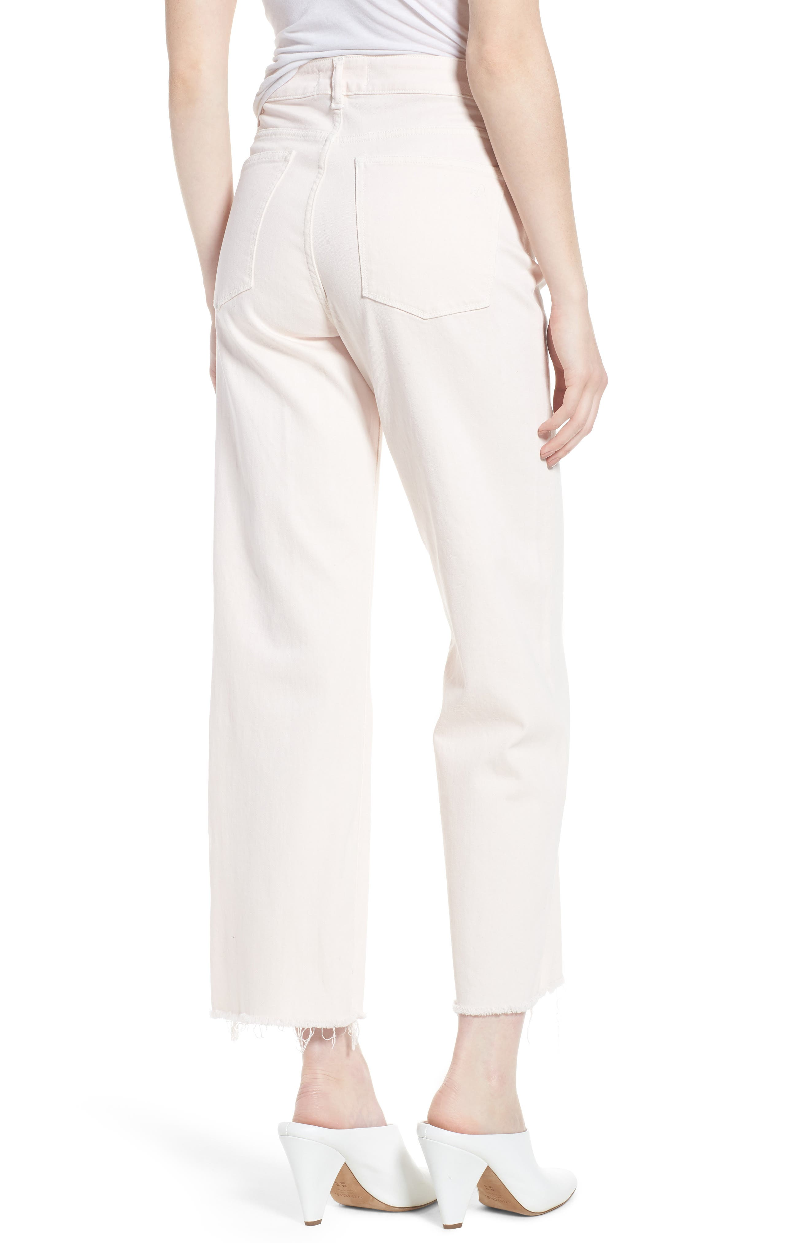 Hepburn Ankle Wide Leg Jeans,                             Alternate thumbnail 2, color,                             Blush Pink