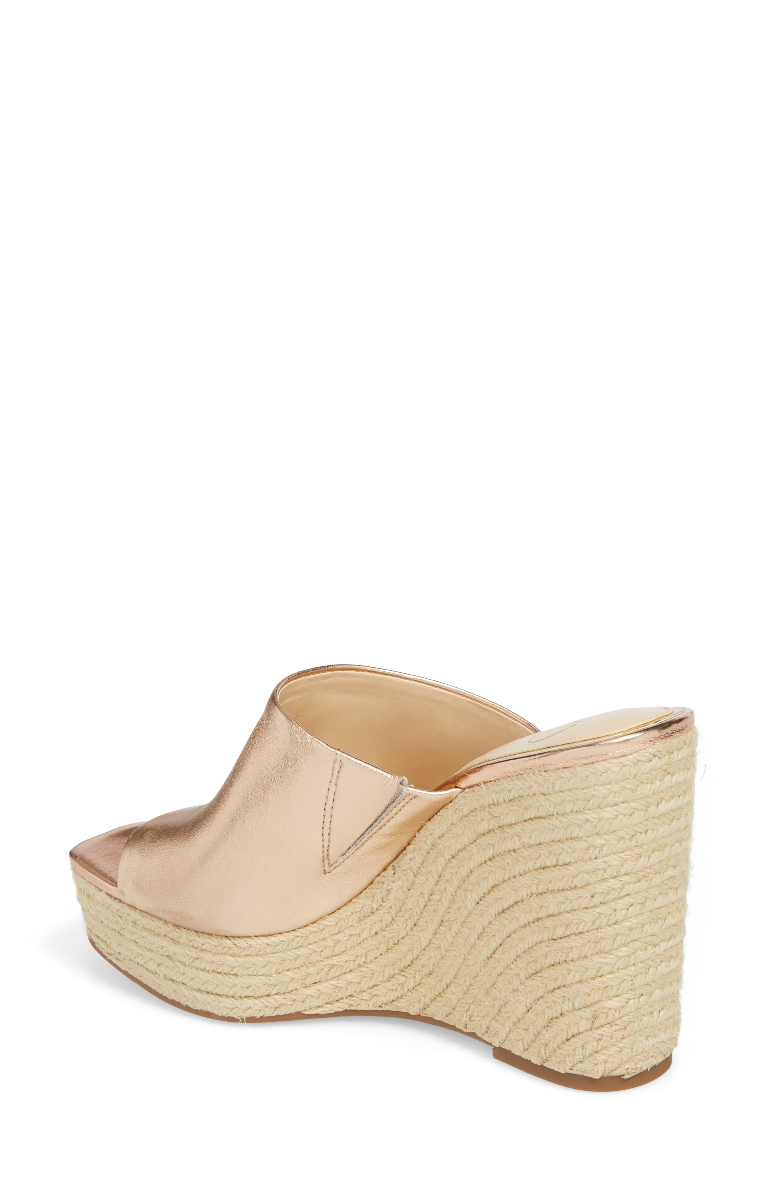 Sirella Platform Wedge Slide Sandal,                             Alternate thumbnail 2, color,                             Pale Rose Go