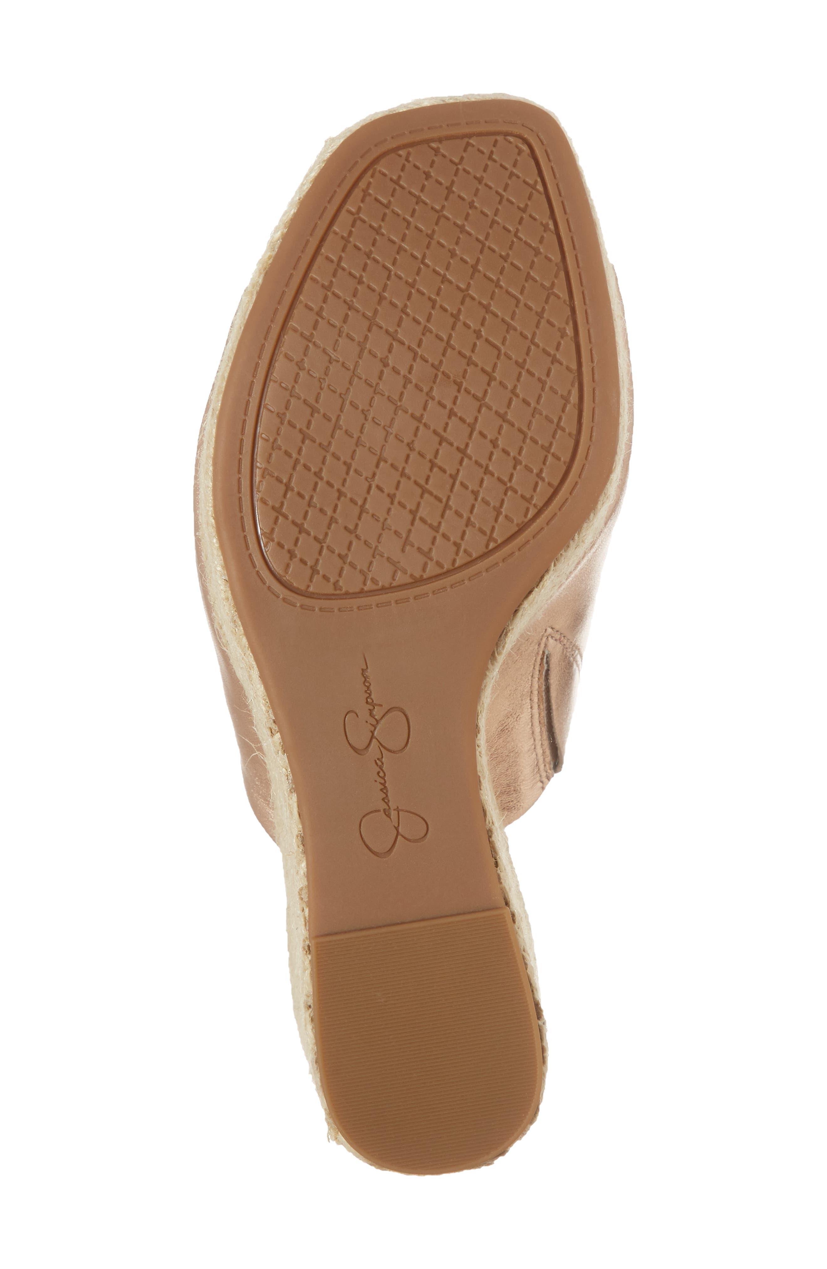 Sirella Platform Wedge Slide Sandal,                             Alternate thumbnail 6, color,                             Pale Rose Go