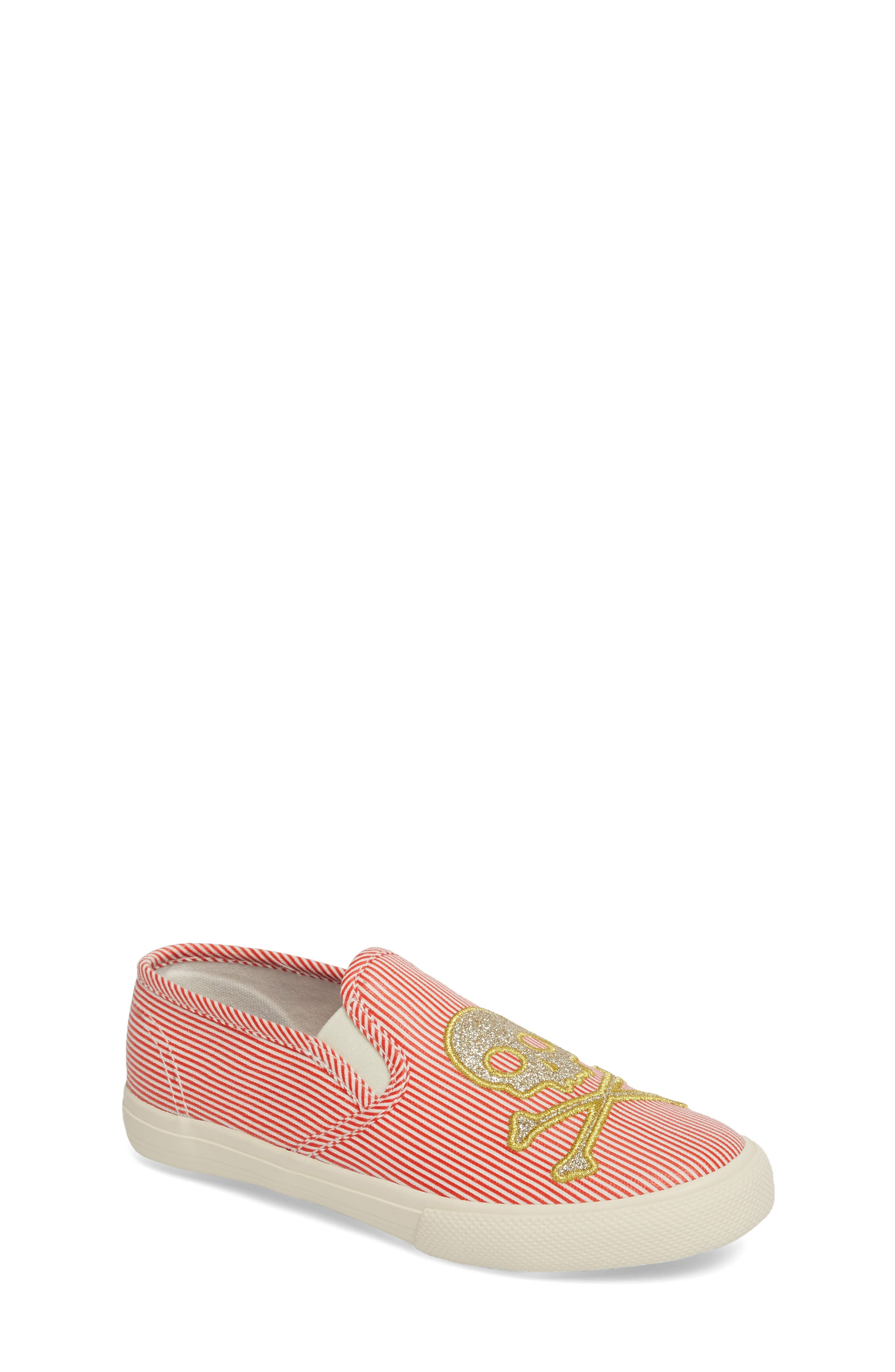 Boden Embroidered Slip-On Sneaker (Toddler & Little Kid)