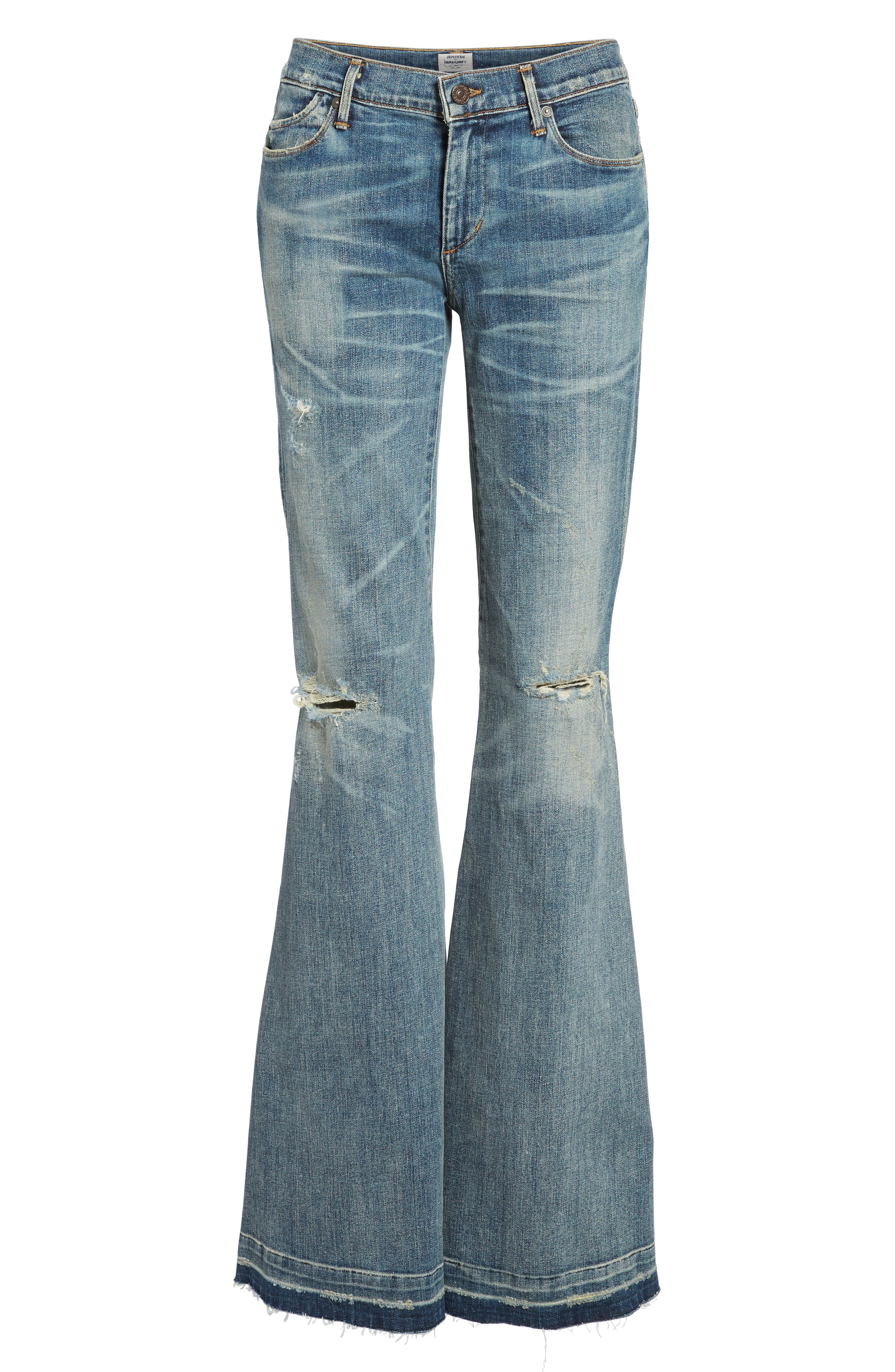 Charlie Flare Jeans,                             Alternate thumbnail 7, color,                             Outpost