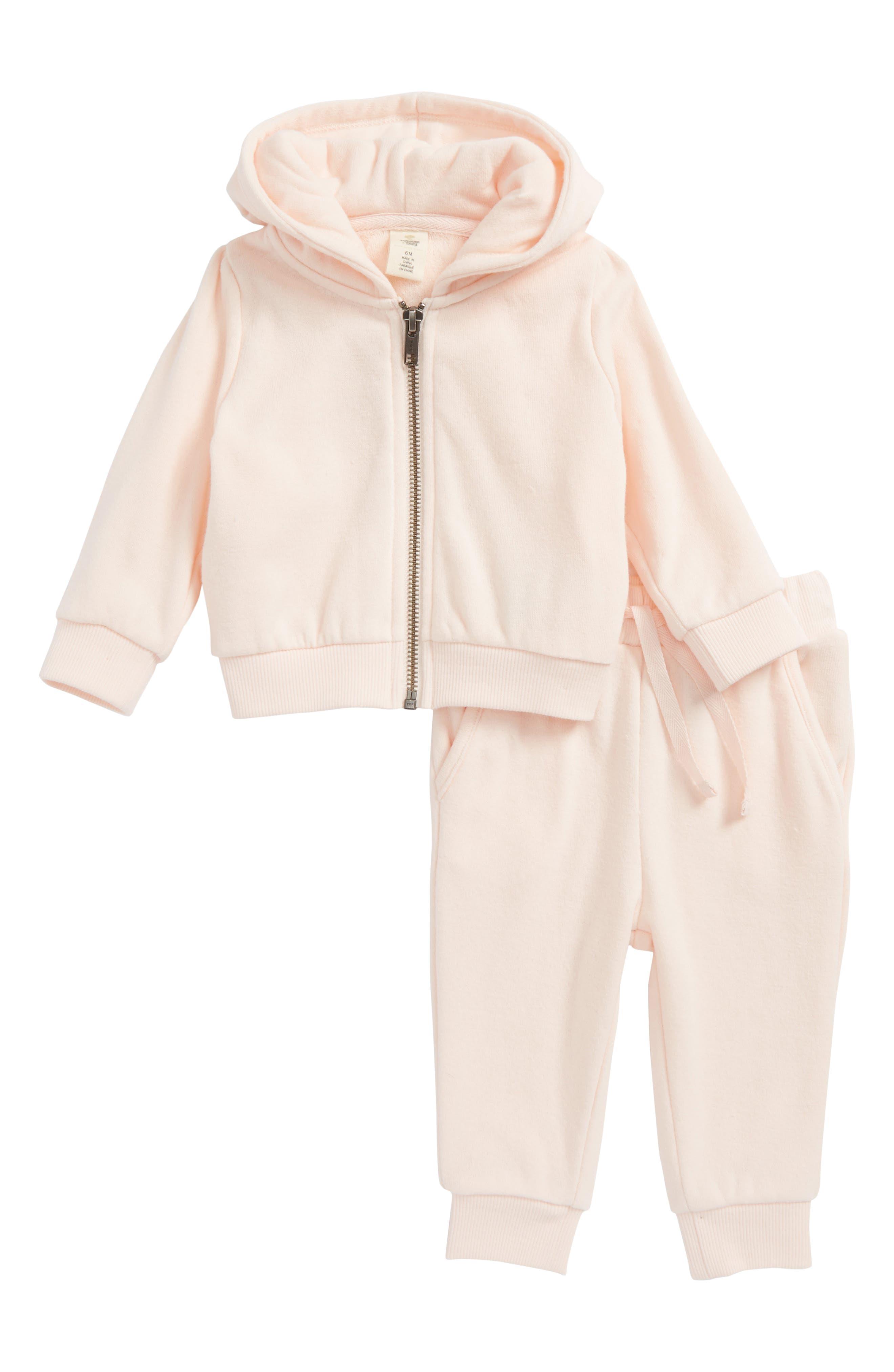 Hoodie & Jogger Pants Set,                         Main,                         color, Pink Cloud