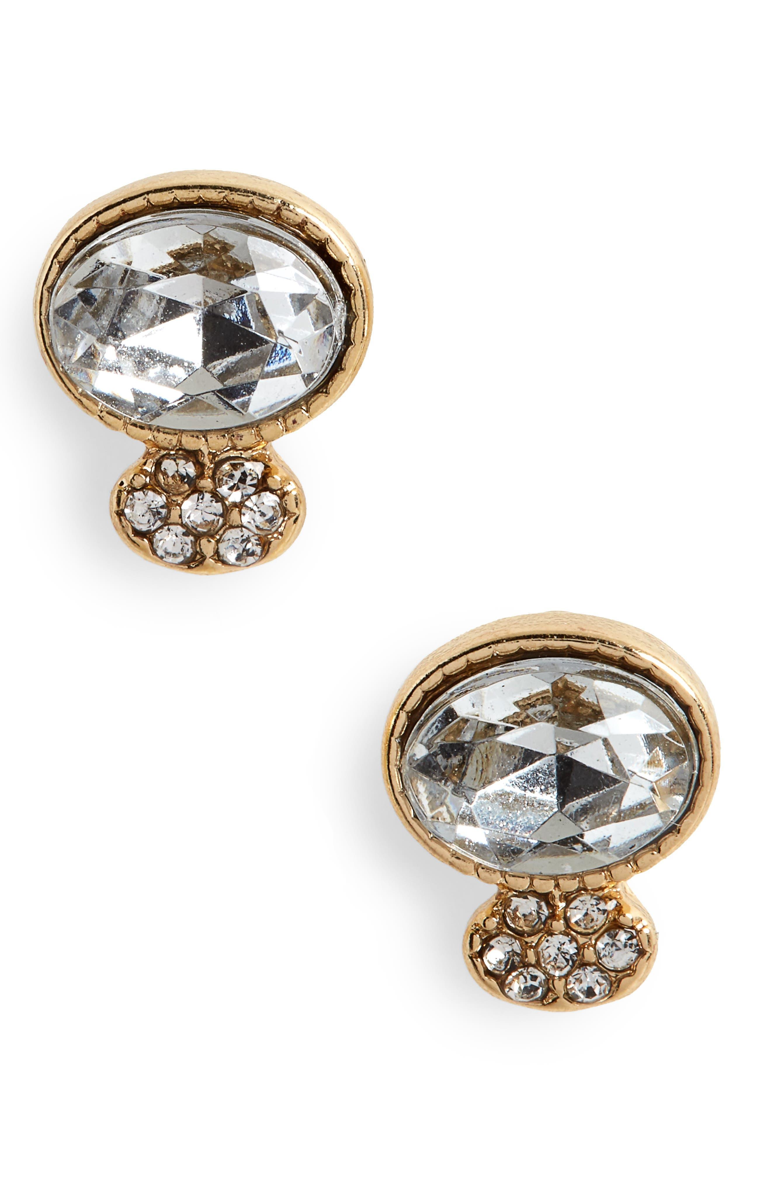 BP. Pavé Crystal Stud Earrings