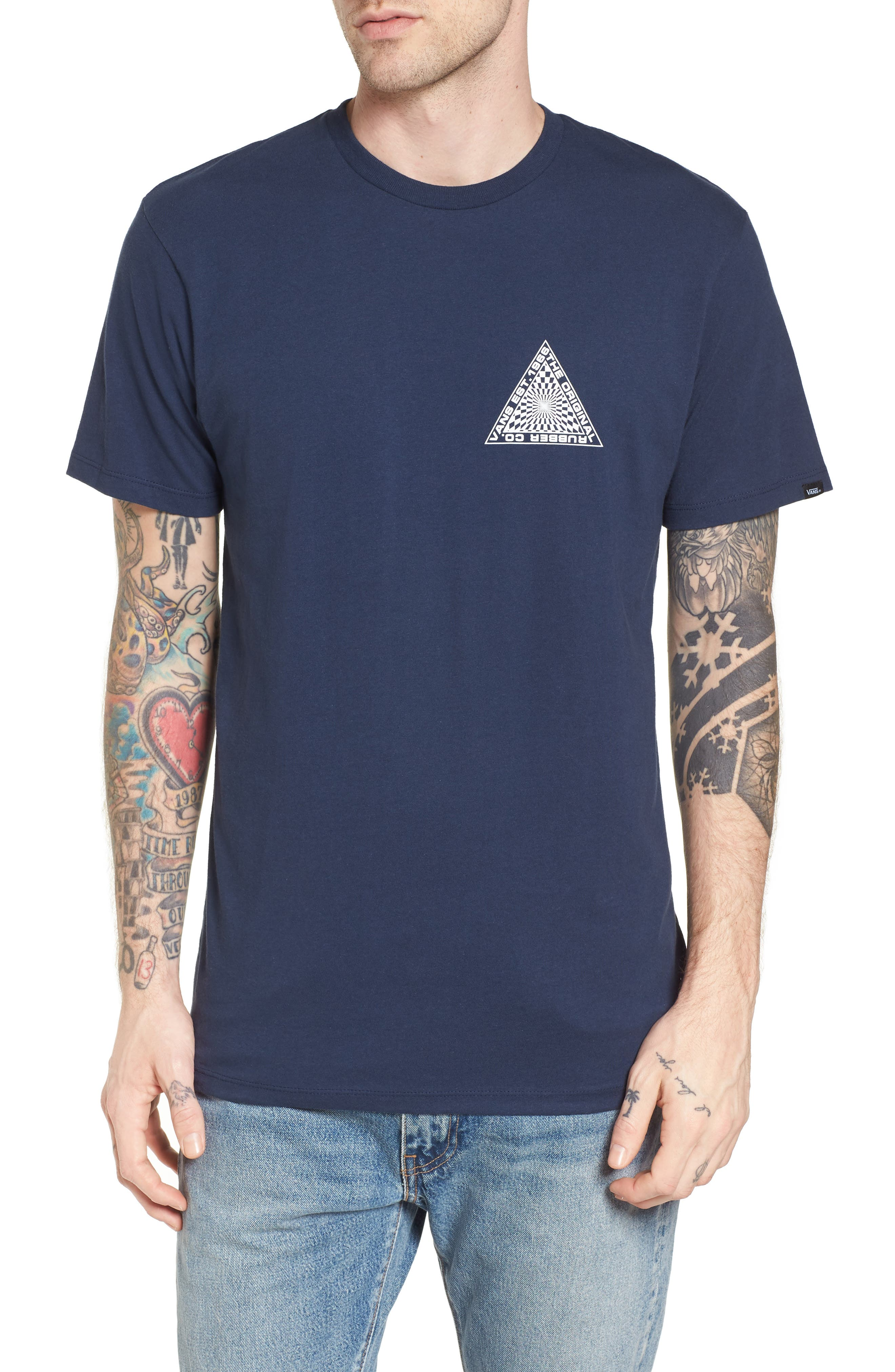 Hypnotics T-Shirt,                             Main thumbnail 1, color,                             Dress Blues