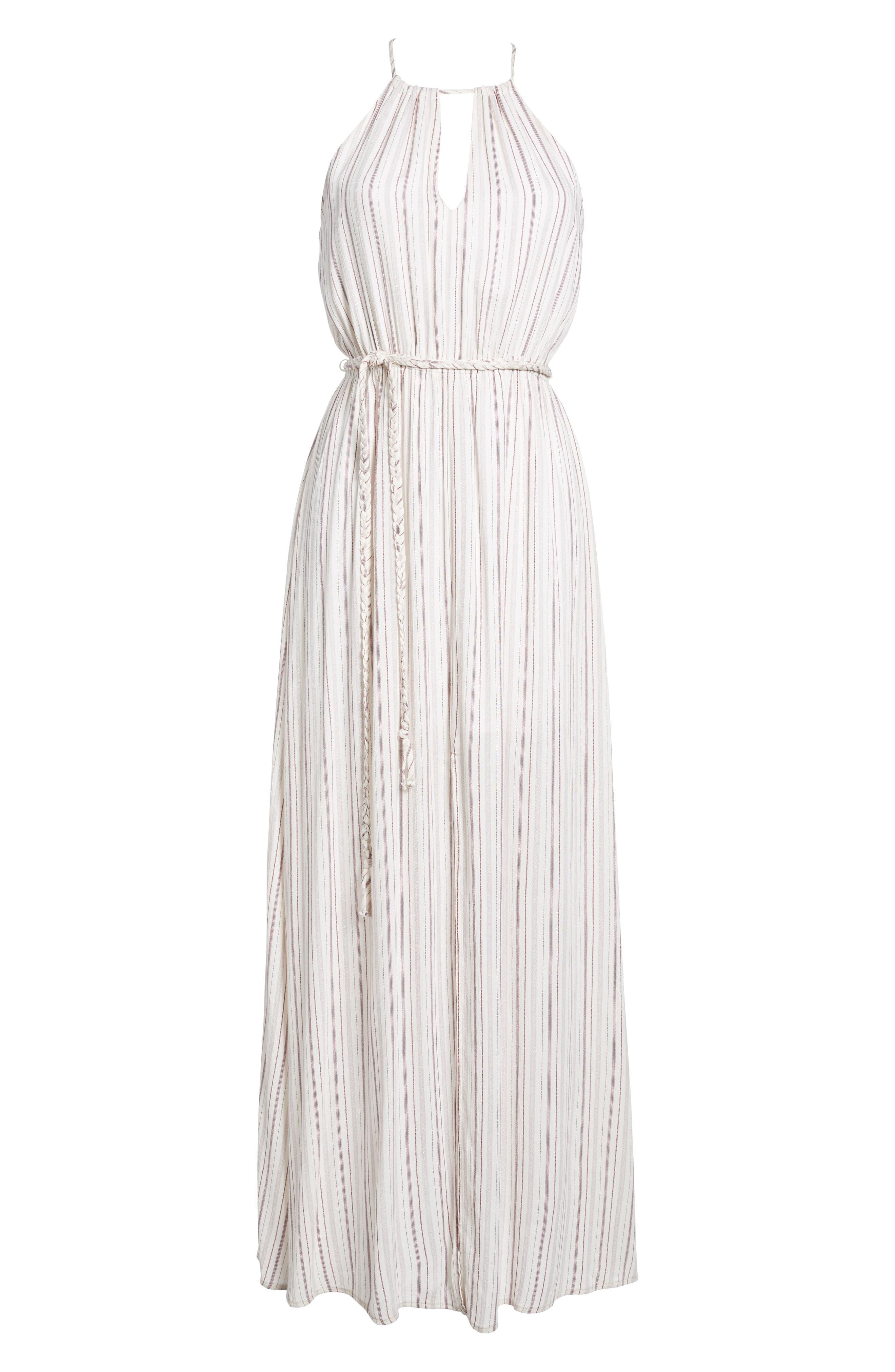Daydreamer Stripe Maxi Dress,                             Alternate thumbnail 6, color,                             Ivory/ Mauve