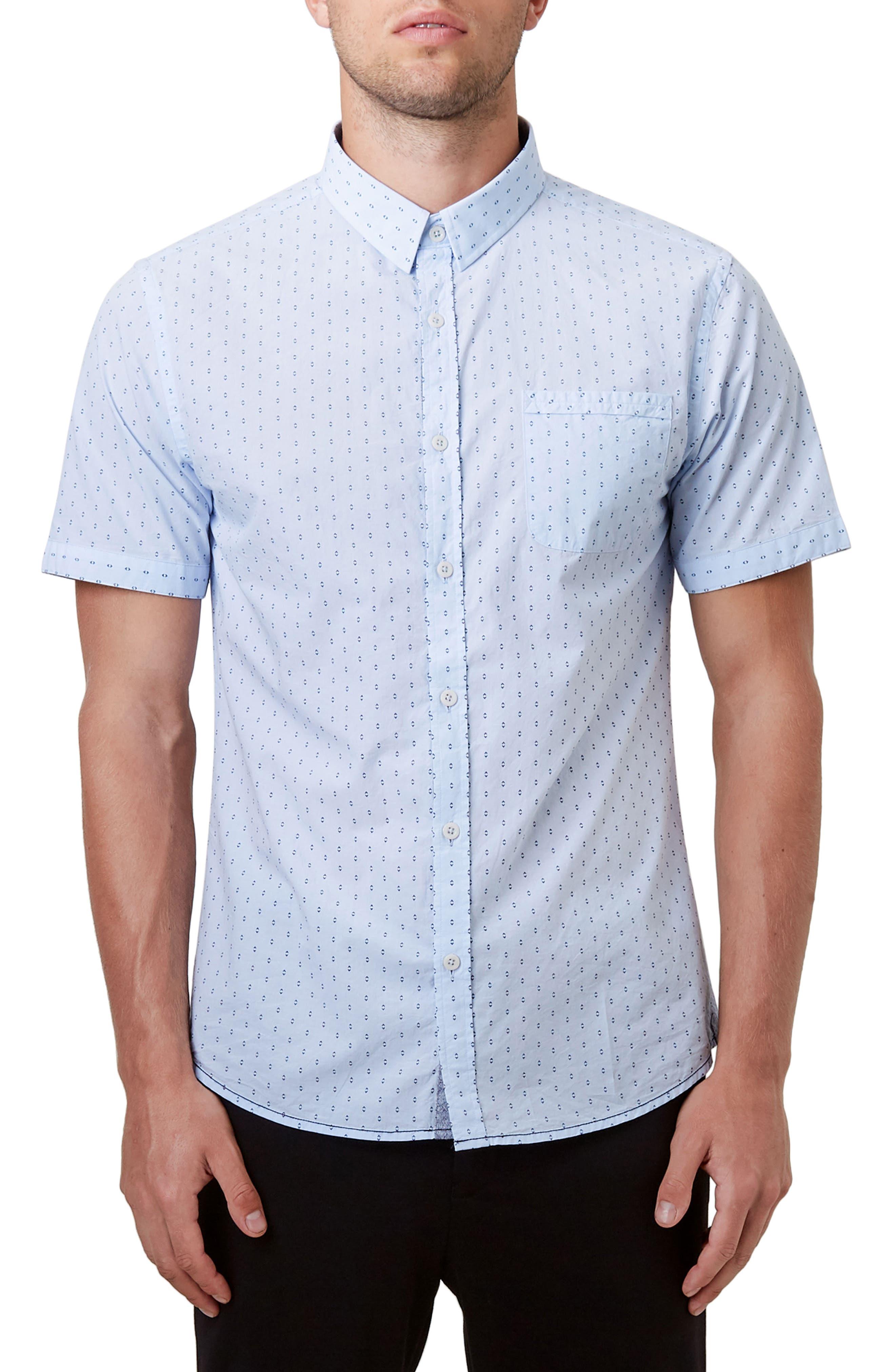 Automation Woven Shirt,                             Main thumbnail 1, color,                             Lt. Blue