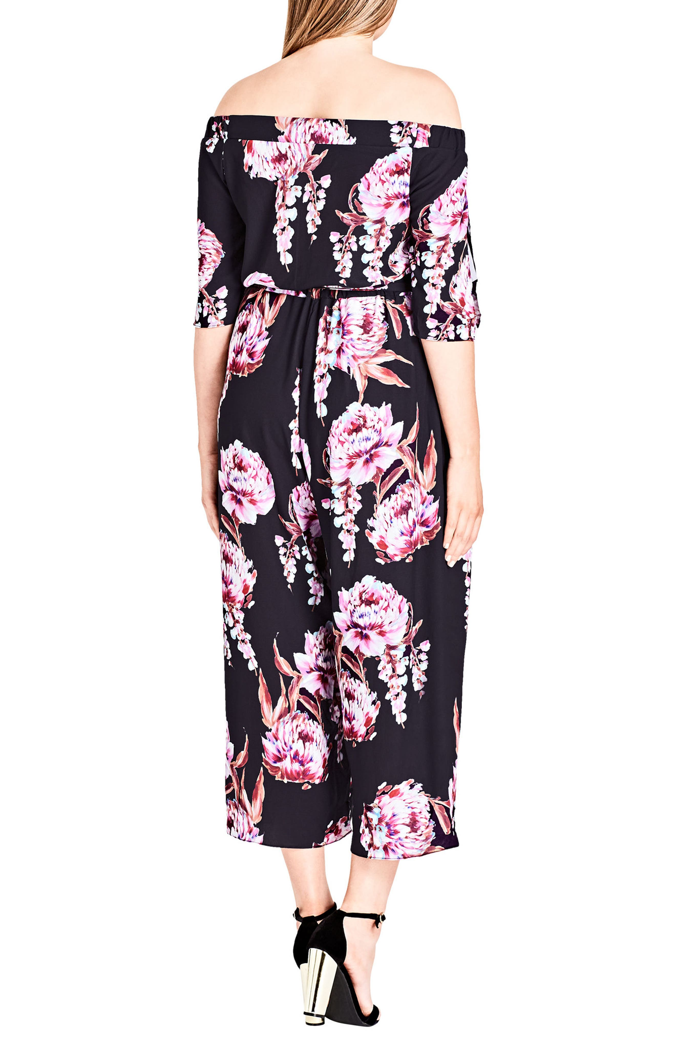 Cascade Floral Jumpsuit,                             Alternate thumbnail 2, color,                             Floral Cascade