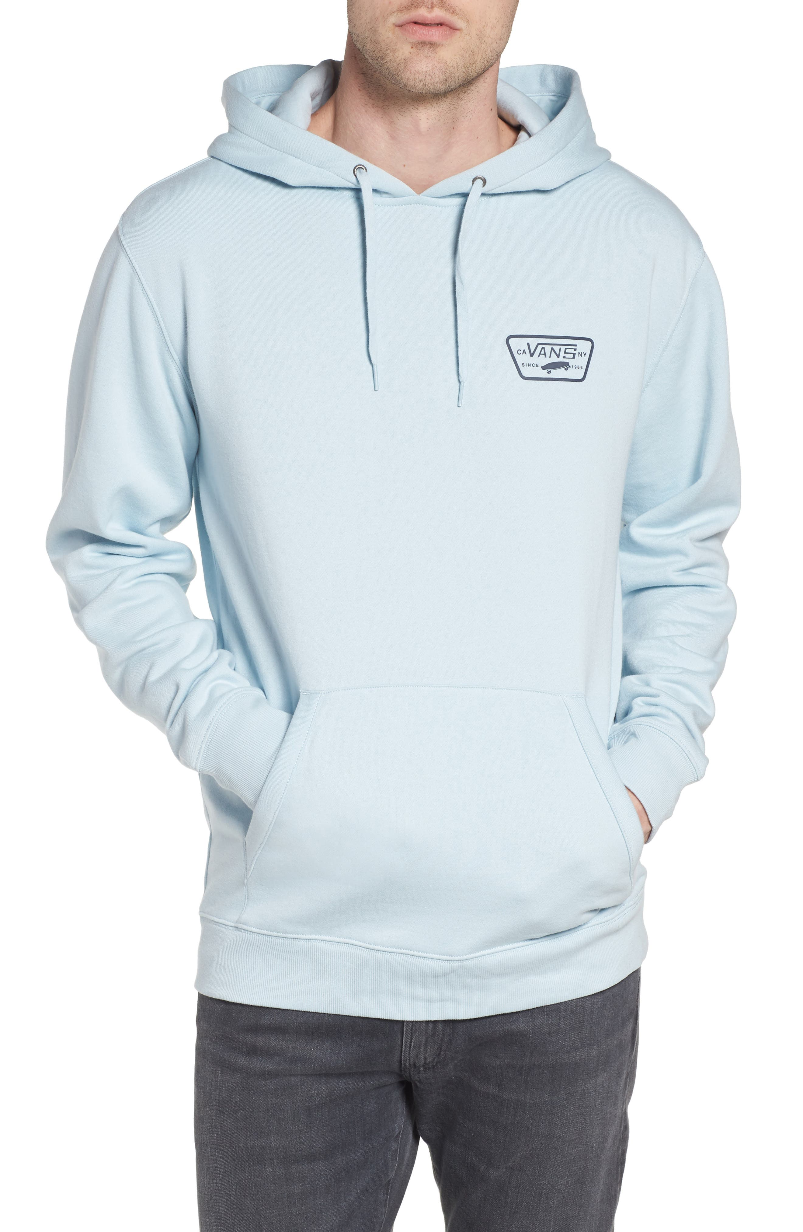 Full Patched Hoodie Sweatshirt,                             Main thumbnail 1, color,                             Baby Blue