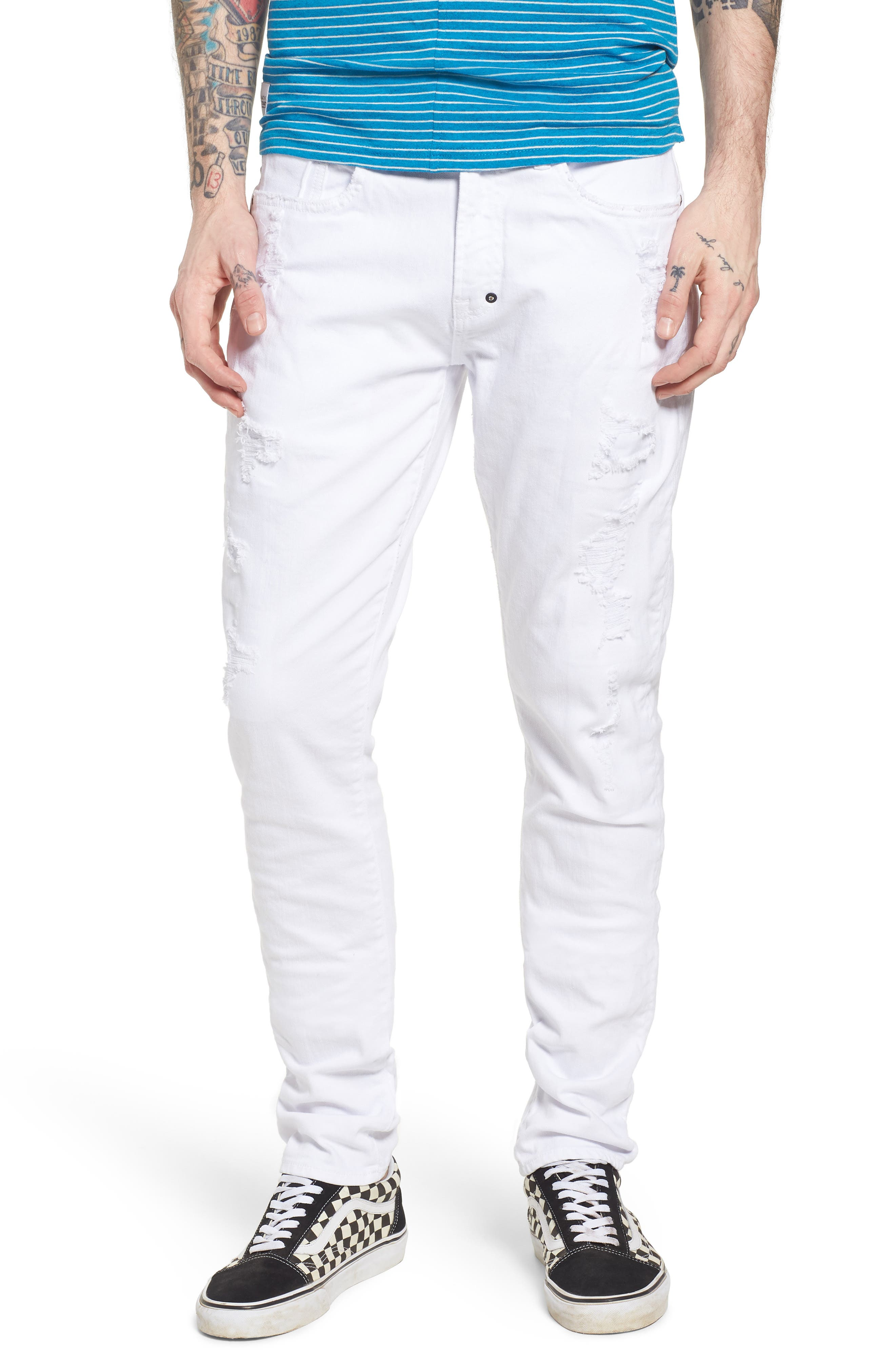 Windsor Slim Fit Jeans,                         Main,                         color, Living White