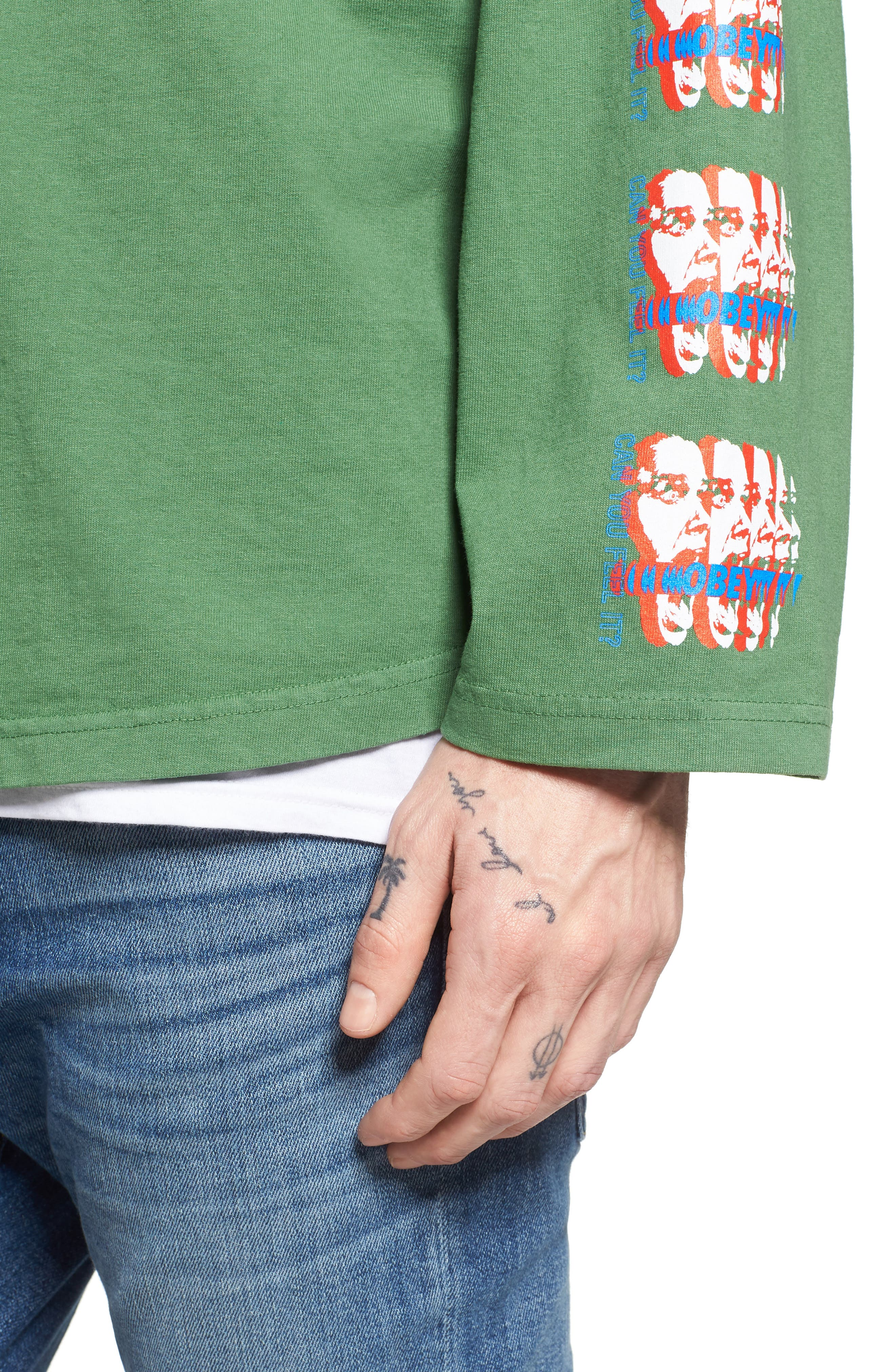 Can You Feel It Hockey Jersey,                             Alternate thumbnail 4, color,                             Vintage Green