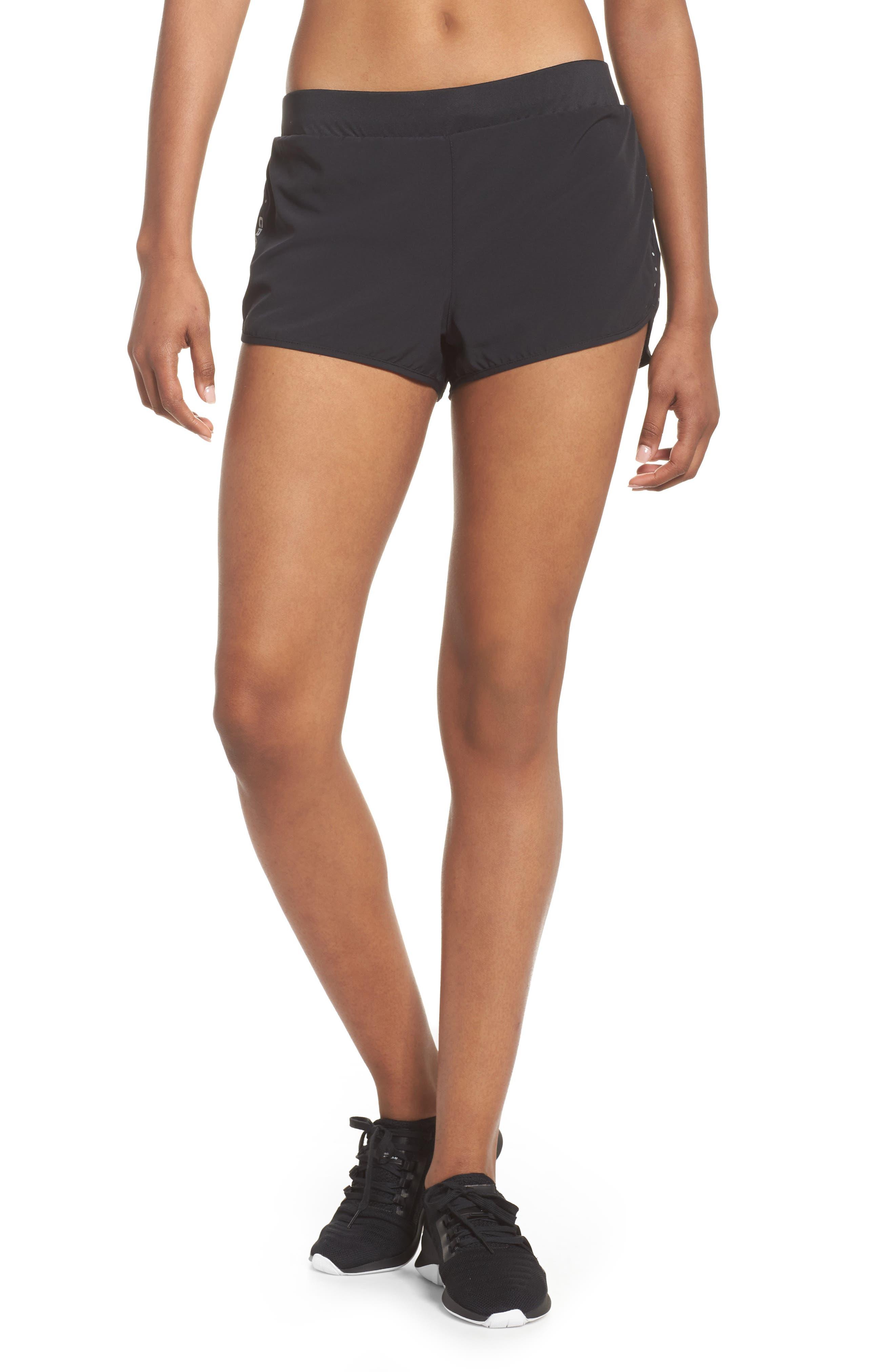 Essential Running Shorts,                             Main thumbnail 1, color,                             Black