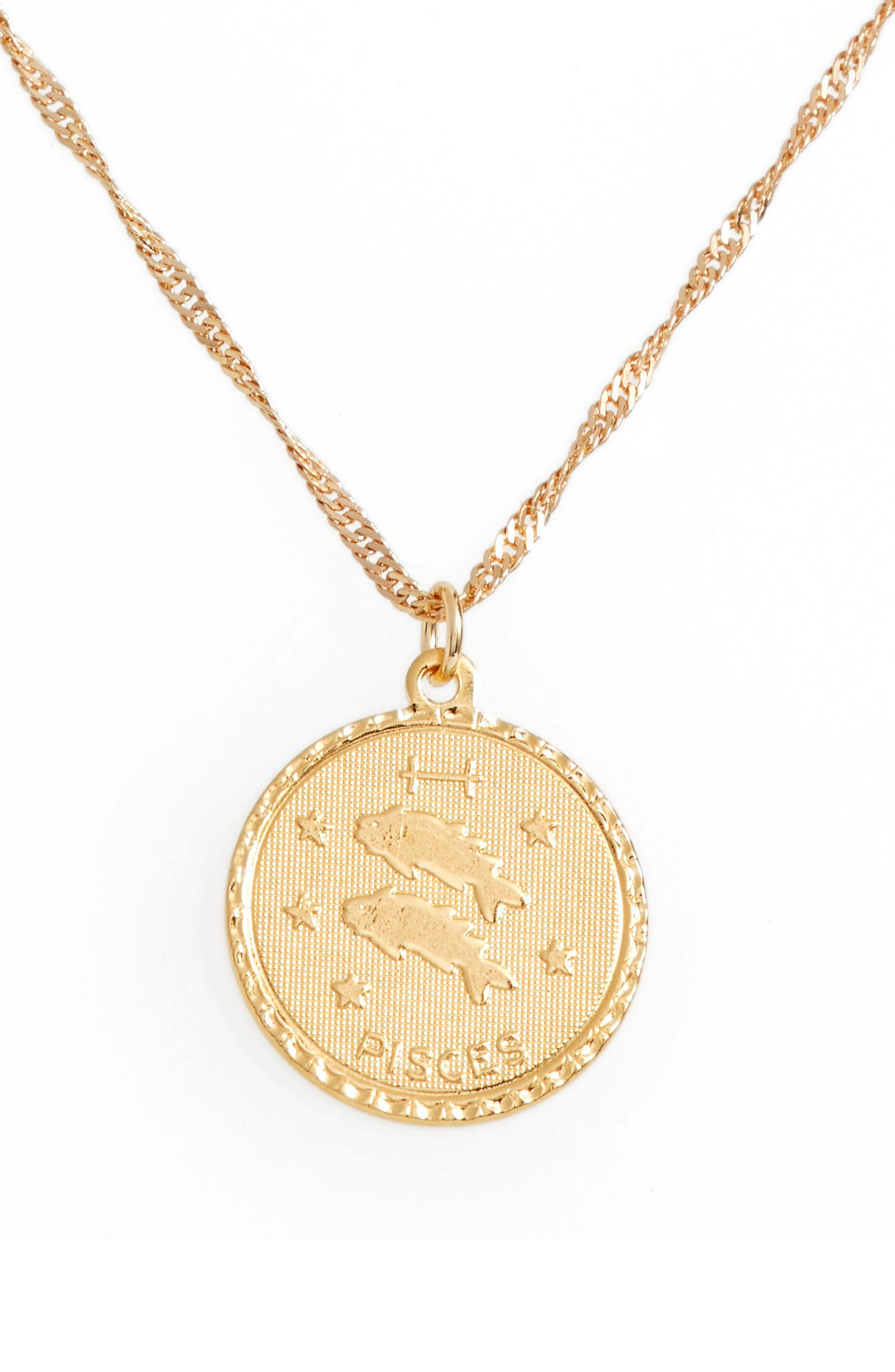 Cam Jewelry Ascending Zodiac Medallion Necklace
