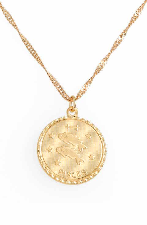 Delicate necklaces for women nordstrom cam jewelry ascending zodiac medallion necklace aloadofball Gallery