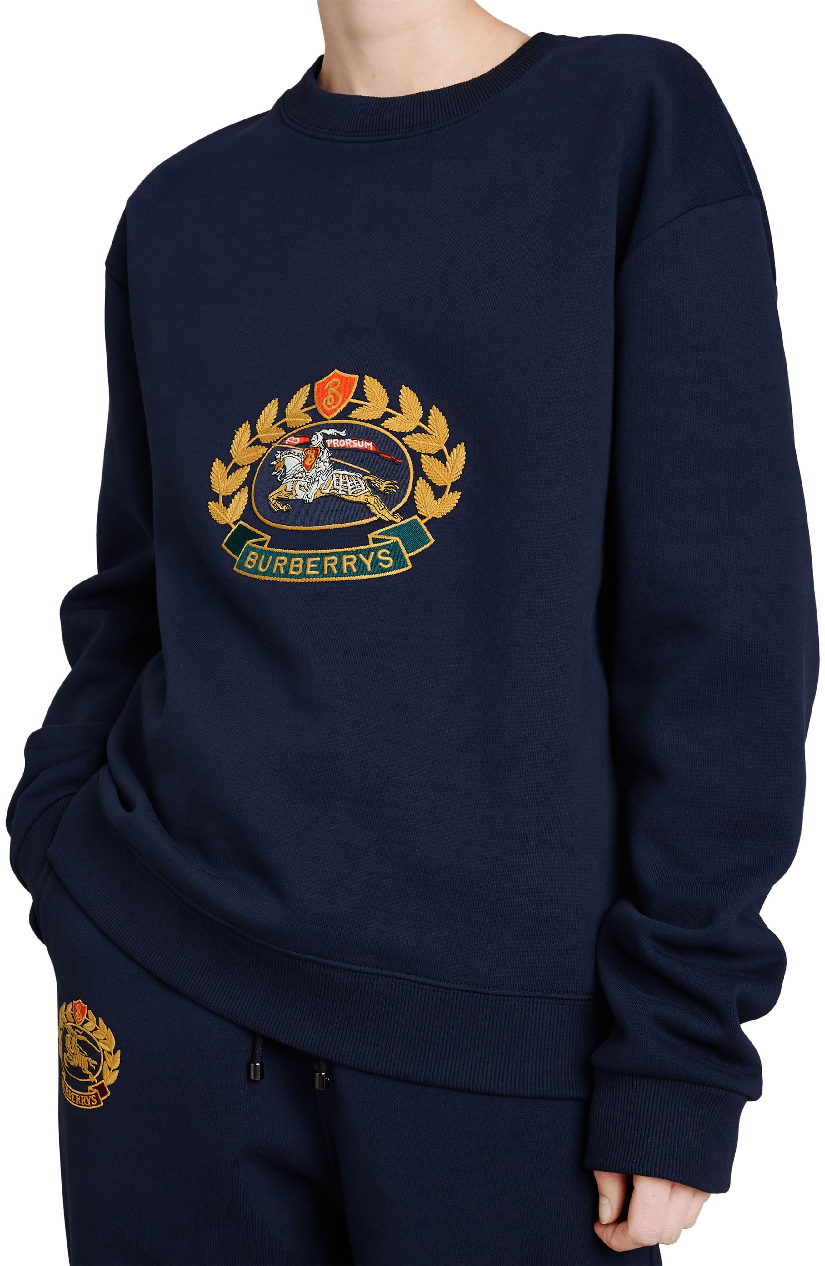 Vintage Crest Sweatshirt,                             Alternate thumbnail 3, color,                             Midnight Blue