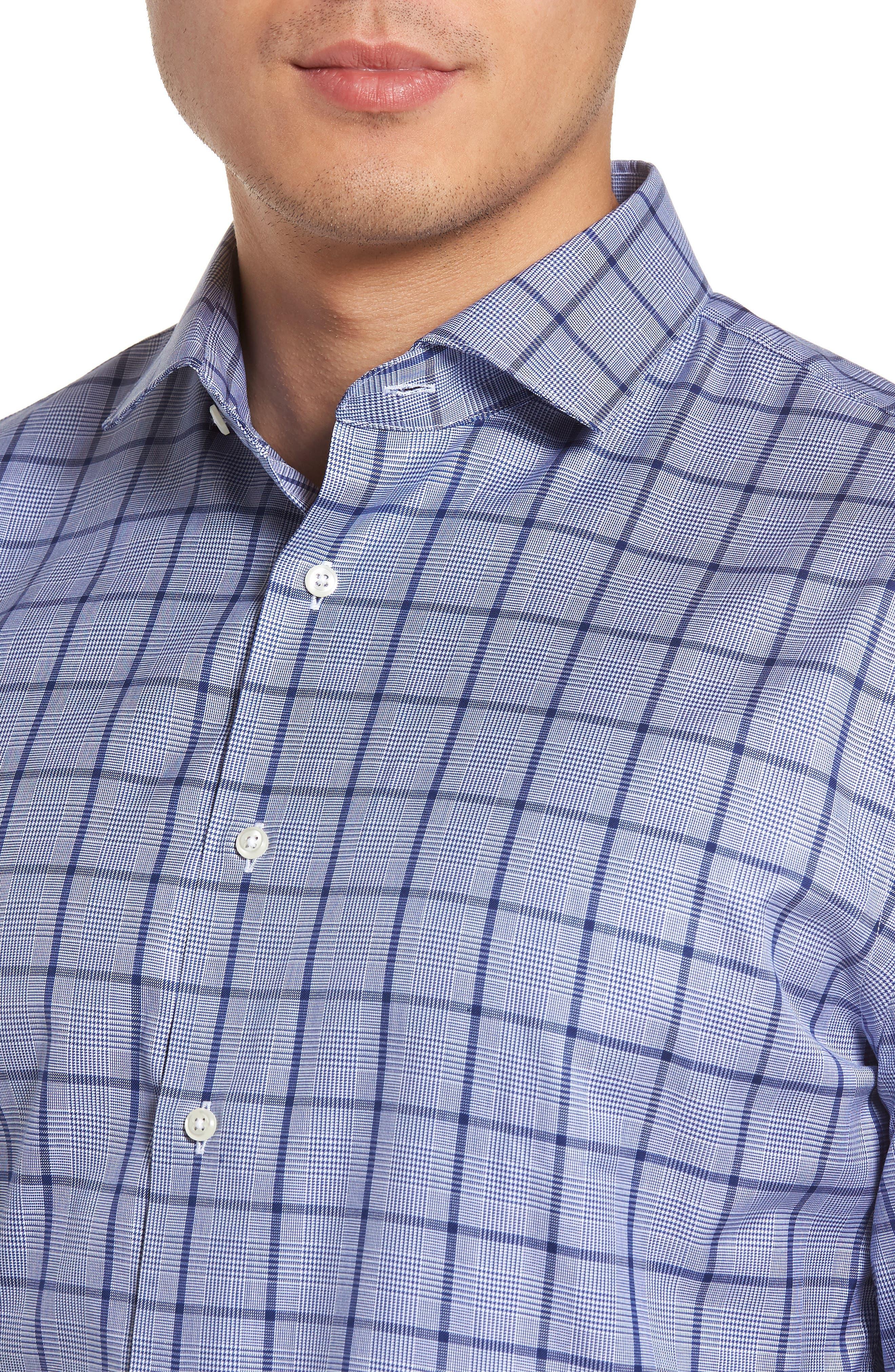 Alternate Image 4  - Nordstrom Men's Shop Trim Fit Check Dress Shirt