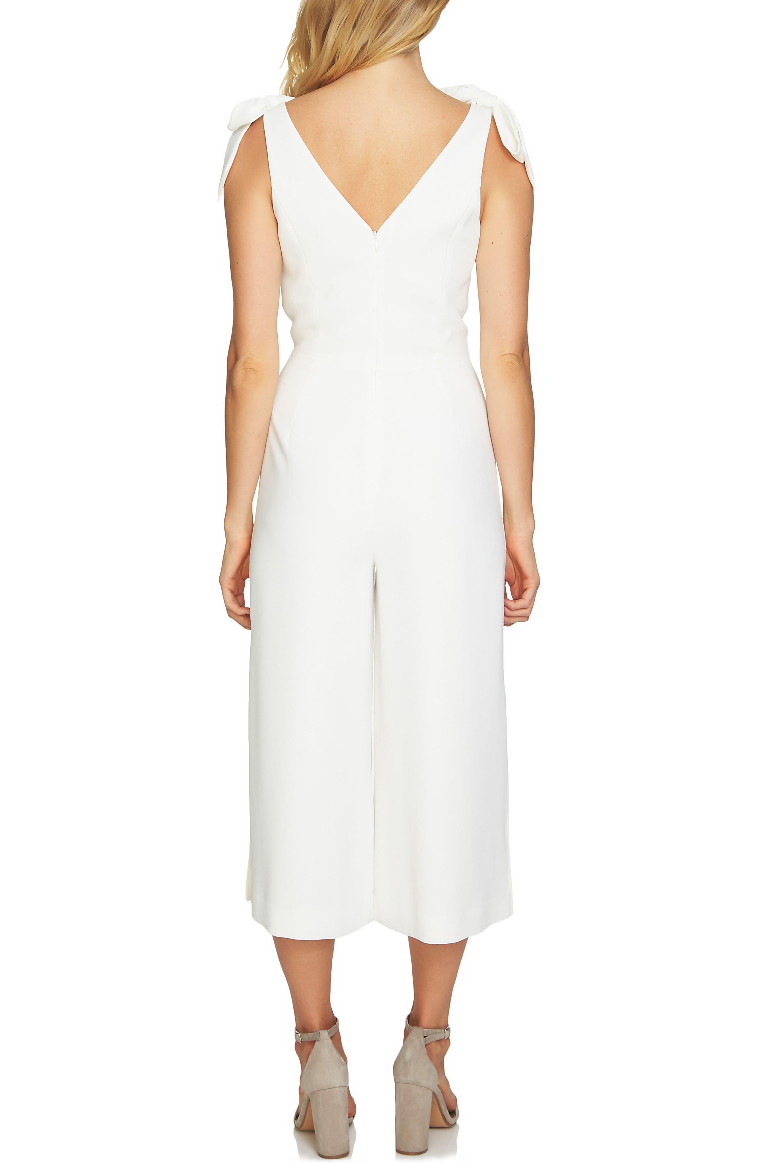 Alternate Image 2  - CeCe Shoulder Tie Crop Jumpsuit