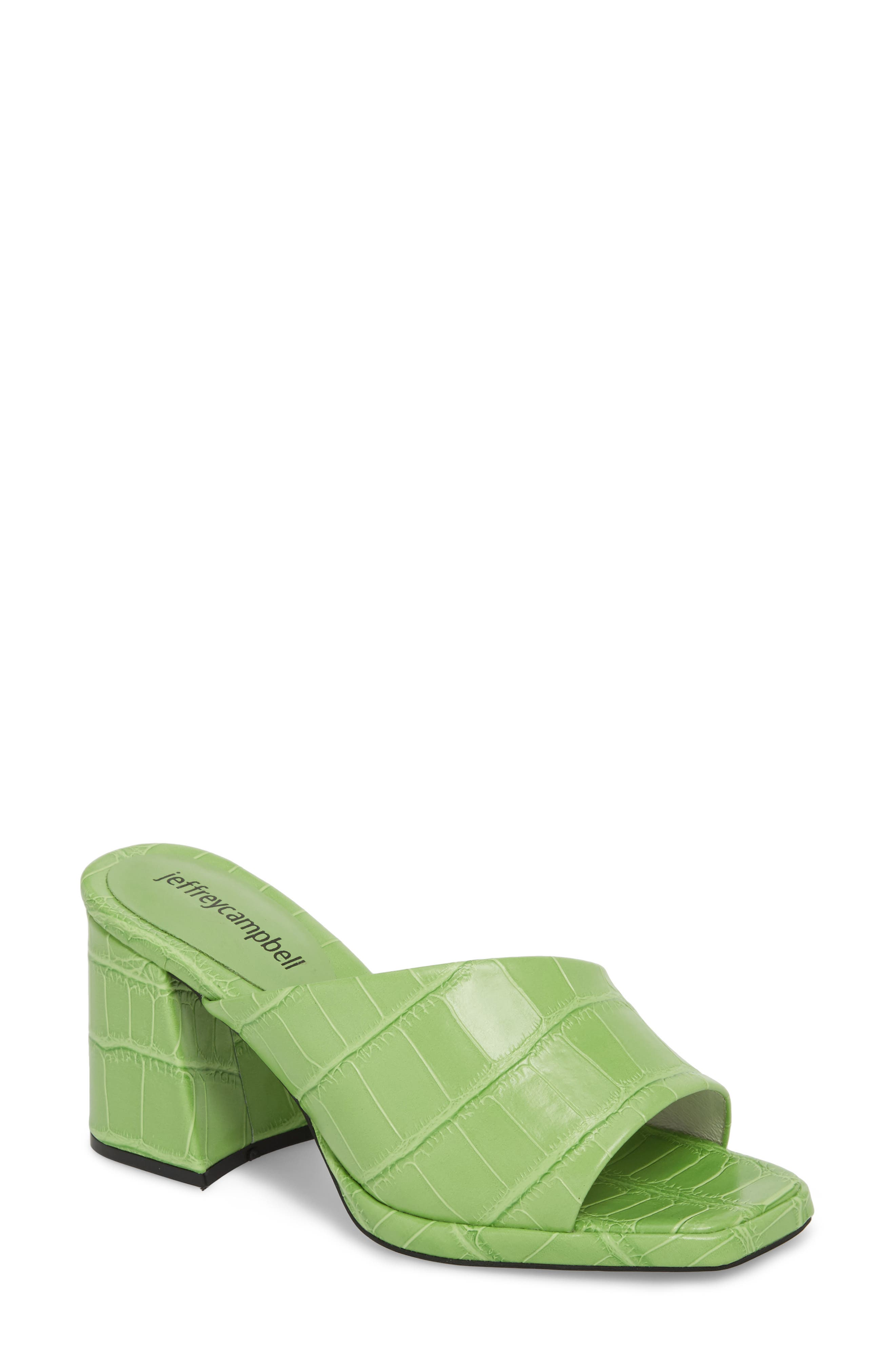 Suzuci Sandal,                         Main,                         color, Green Leather