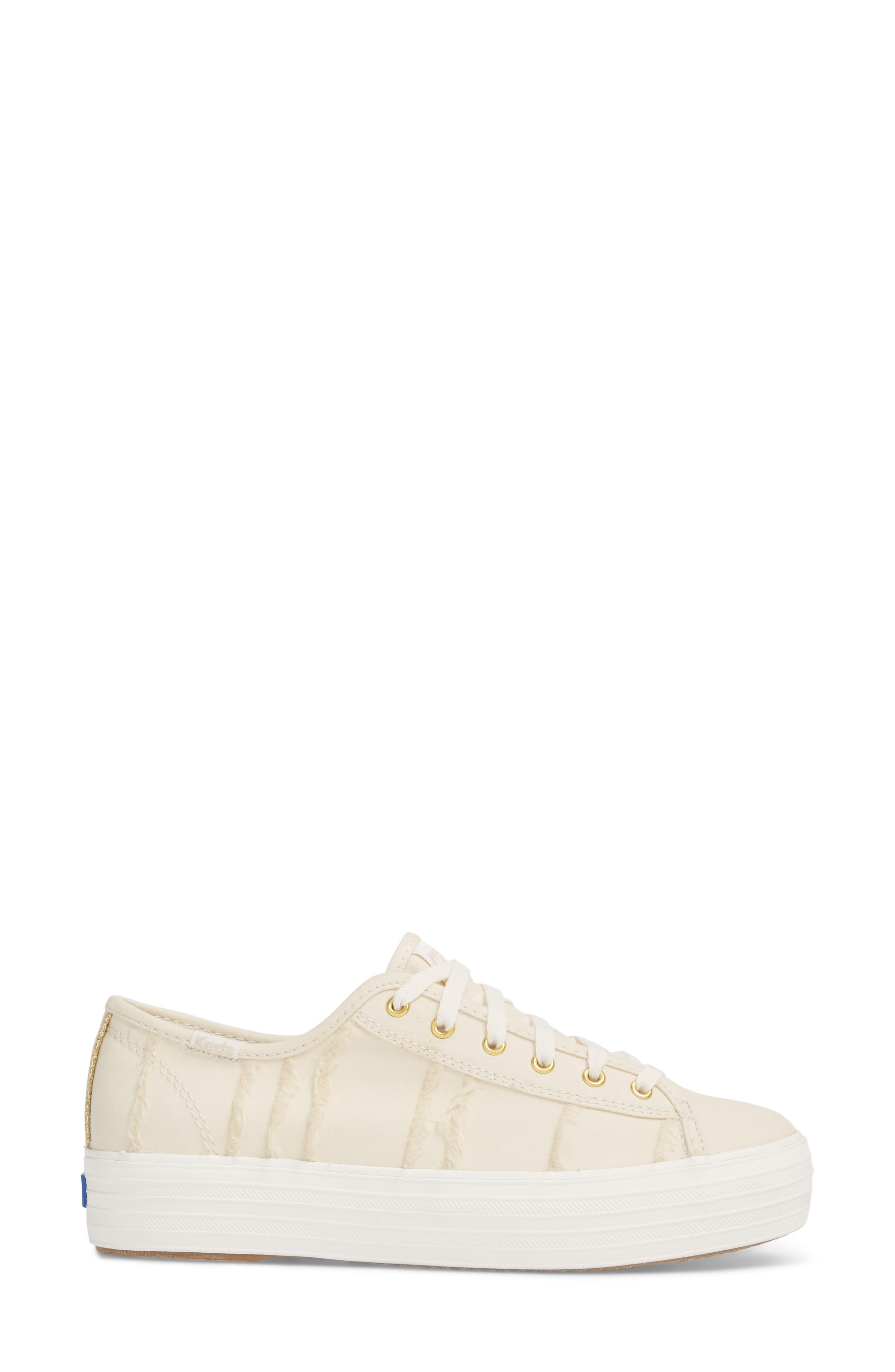 Triple Kick Canvas Sneaker,                             Alternate thumbnail 3, color,                             Cream