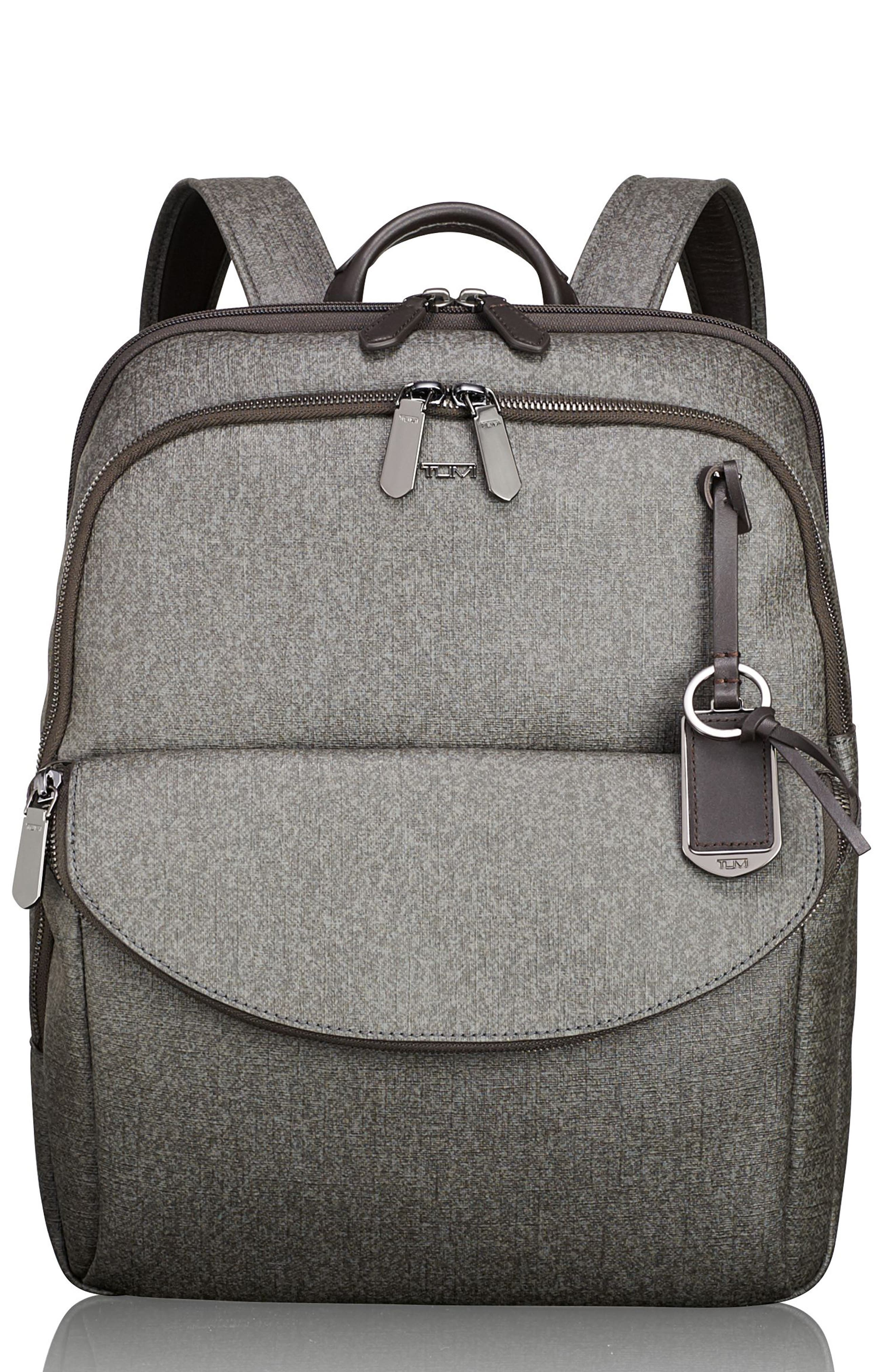 Stanton – Hettie Coated Canvas Backpack,                             Main thumbnail 1, color,                             Earl Grey