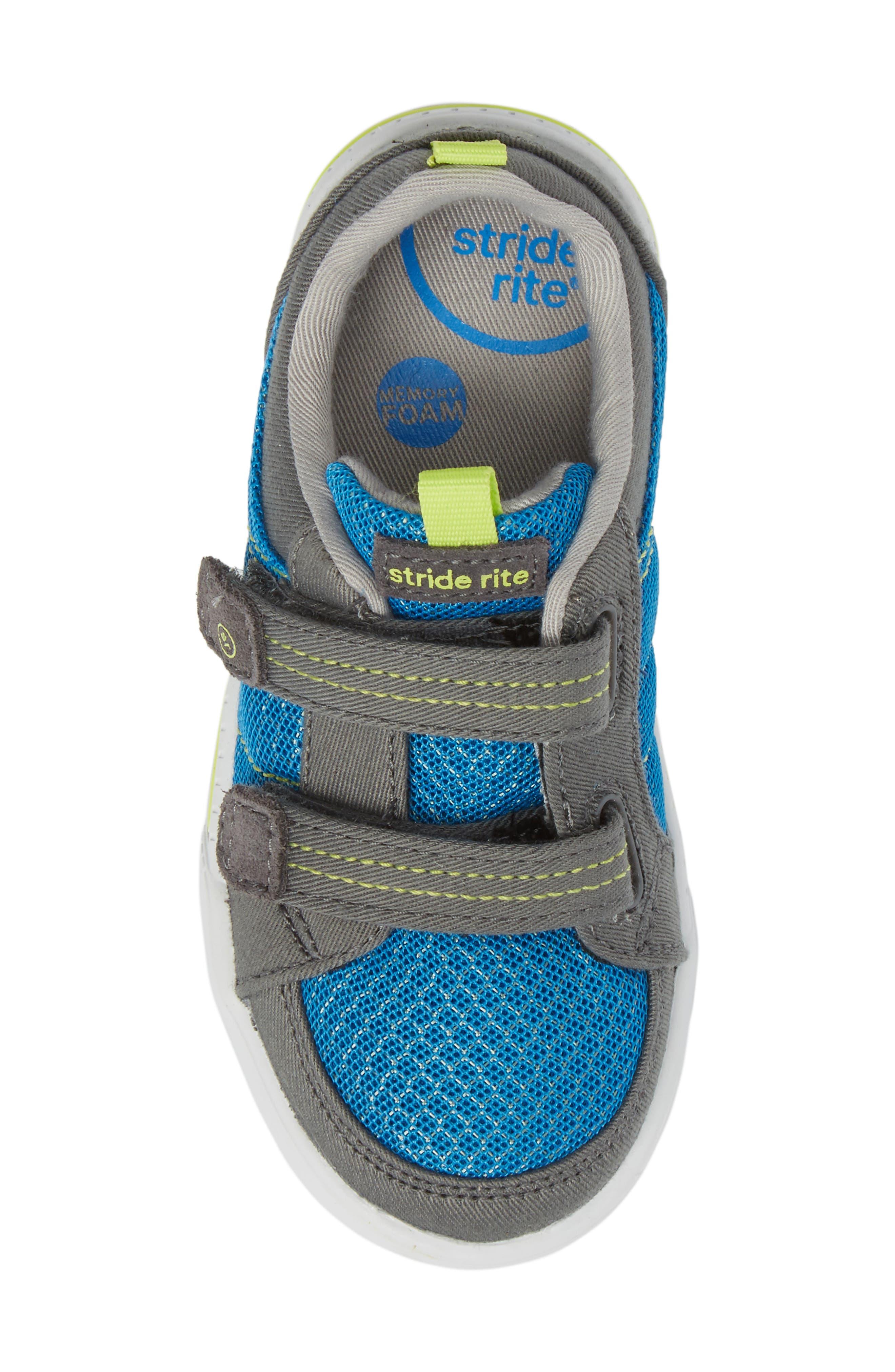 Logan Sneaker,                             Alternate thumbnail 5, color,                             Blue/ Grey
