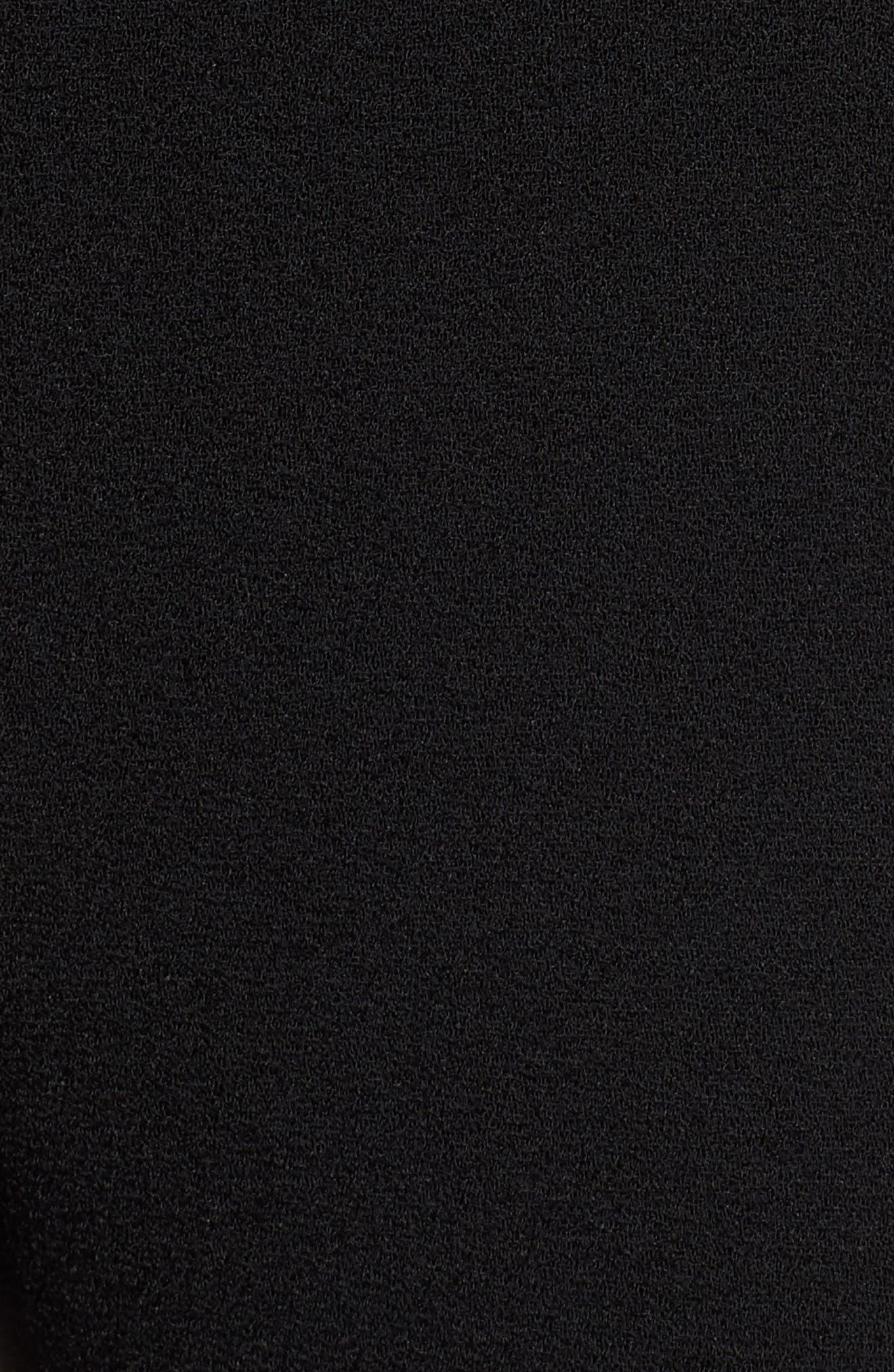 Timalea Compact Crepe Side Zip Slim Leg Trousers,                             Alternate thumbnail 6, color,                             Black