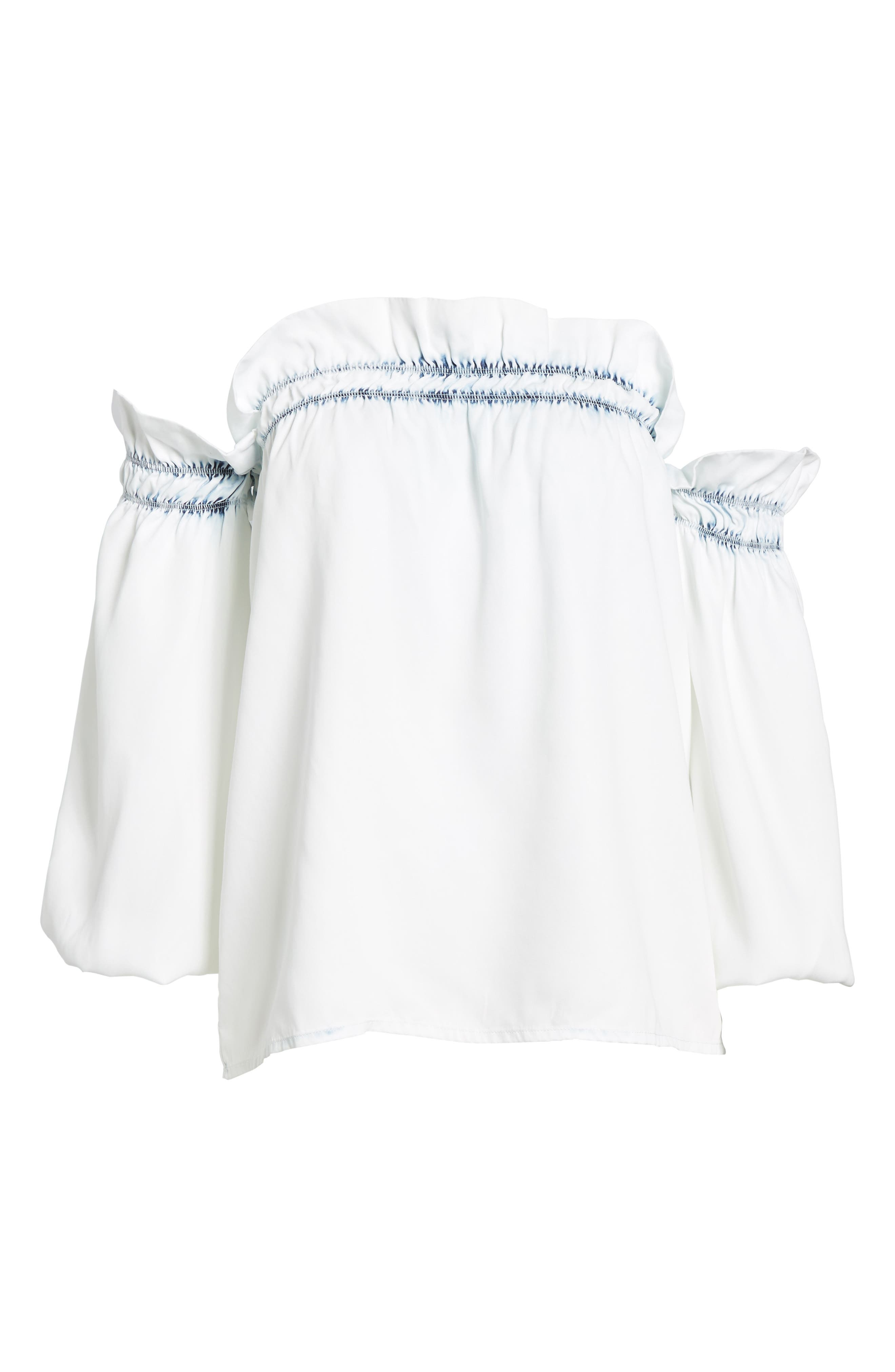 Little W 12th Off the Shoulder Top,                             Alternate thumbnail 6, color,                             Irregular Bleach