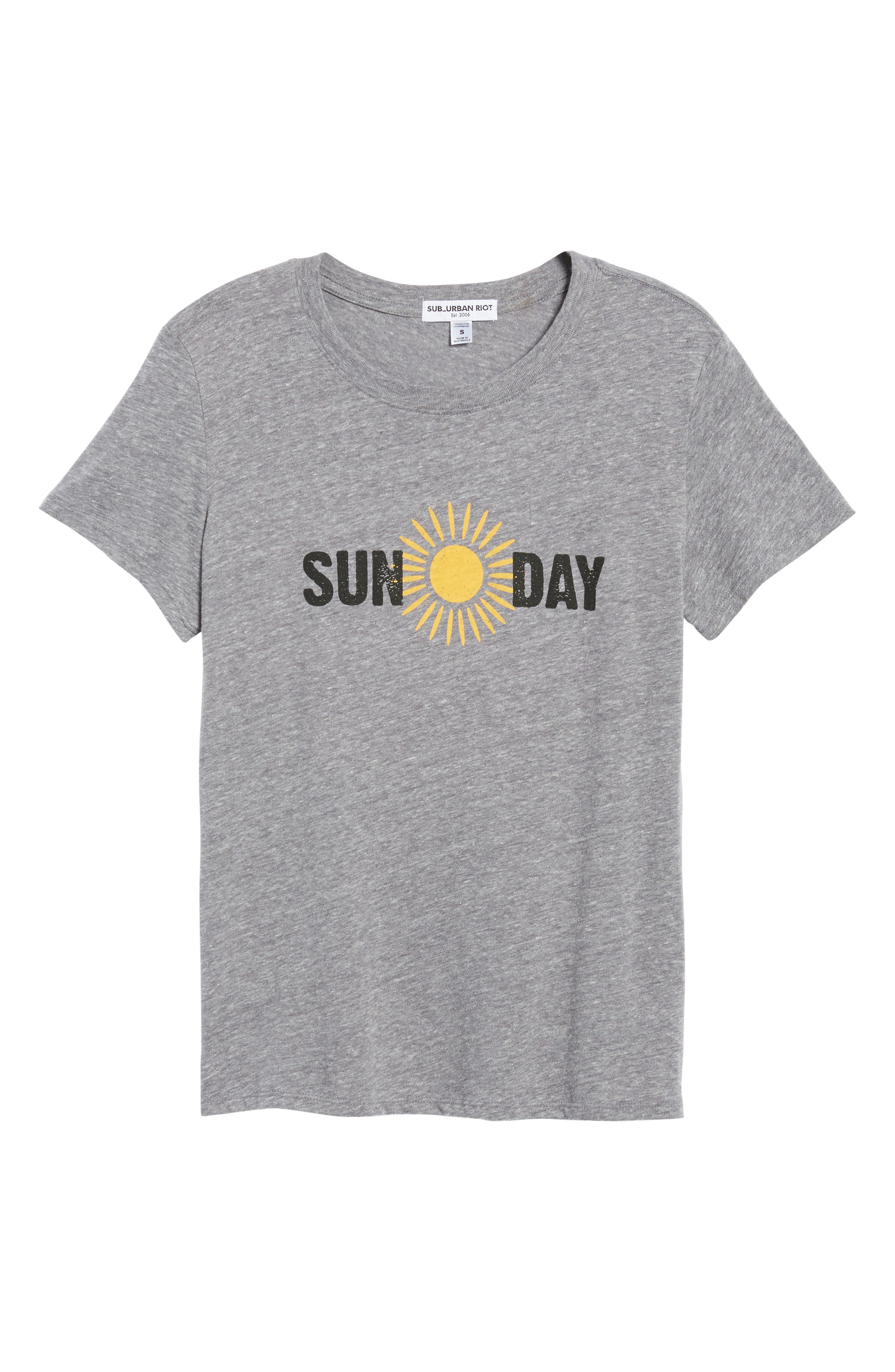 Sun Day Graphic Tee,                             Alternate thumbnail 6, color,                             Heather Grey