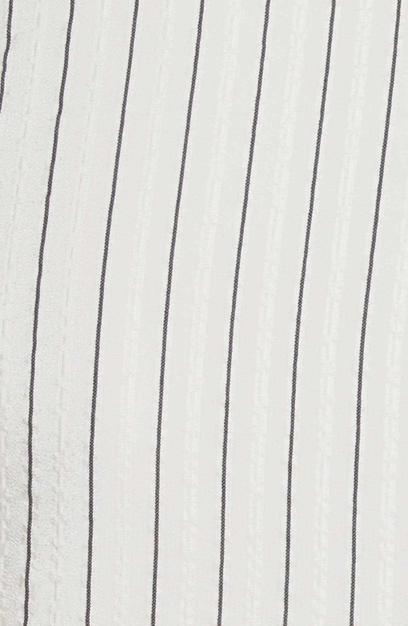 Wilkie Seersucker Striped Sheath Dress,                             Alternate thumbnail 6, color,                             Vanilla Ice
