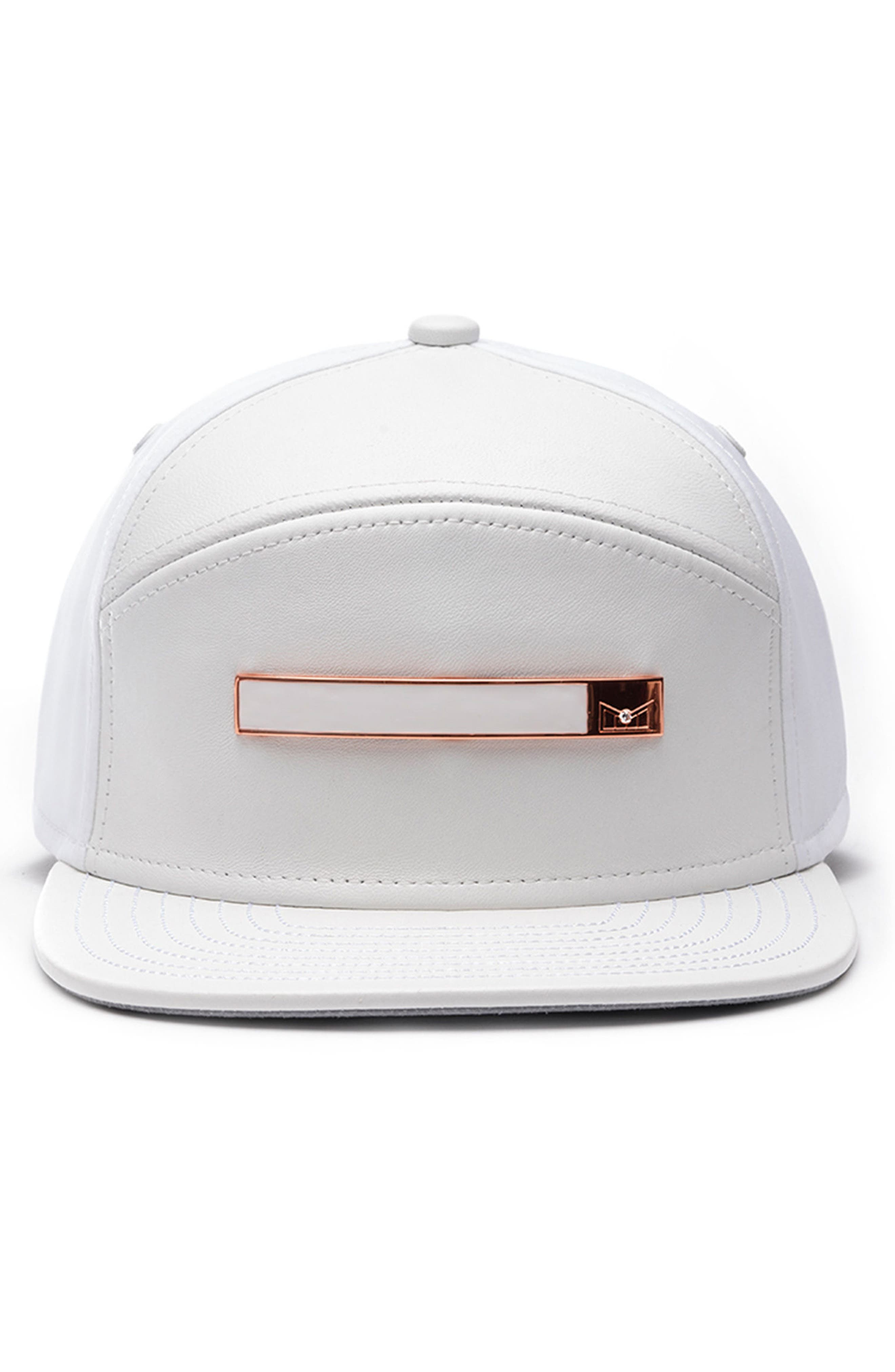 Dynasty V Limited Edition Leather, Cashmere, Wool & Diamond Cap,                             Alternate thumbnail 2, color,                             White