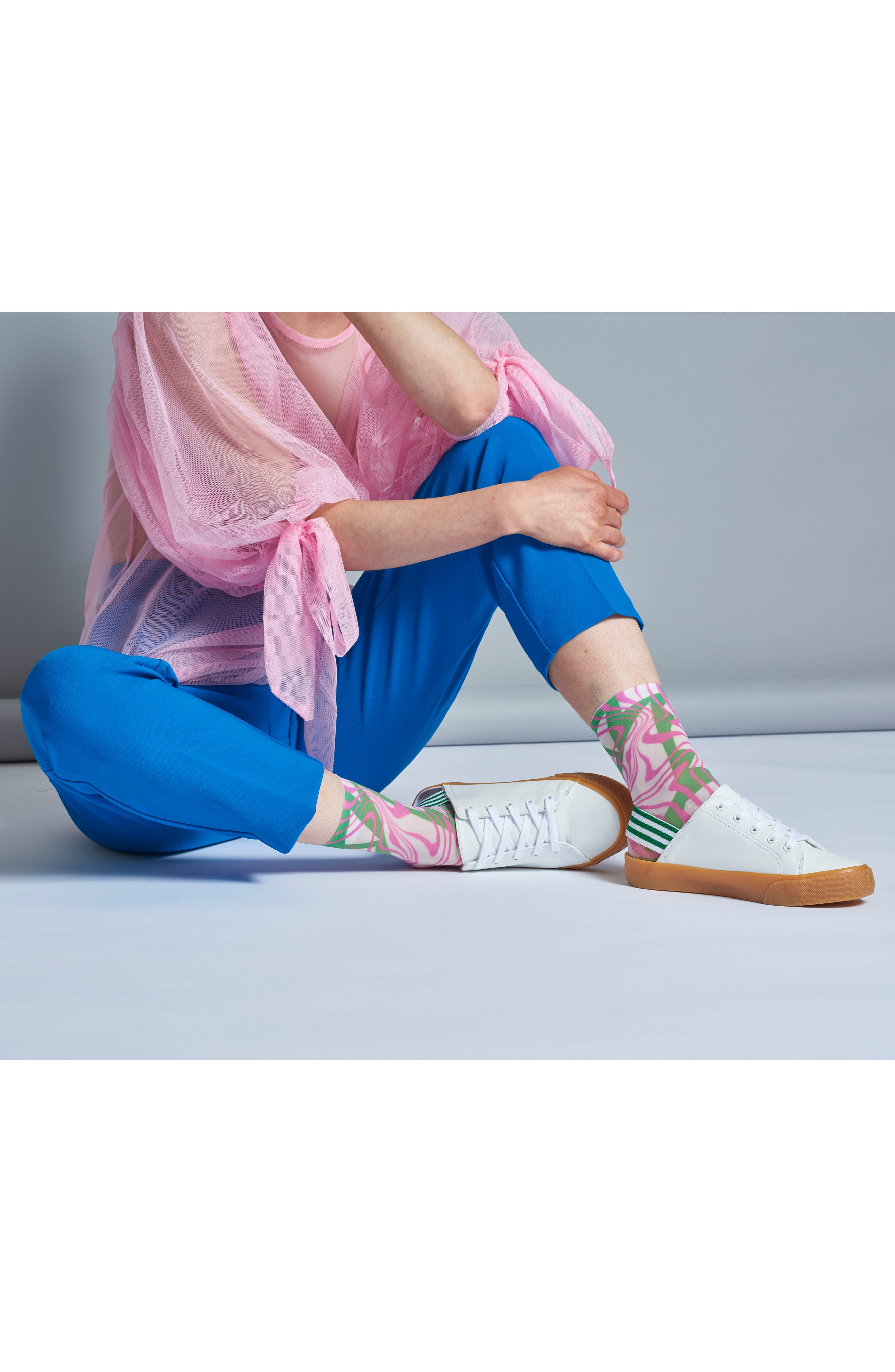 Mia Ankle Socks,                             Alternate thumbnail 3, color,                             Pink