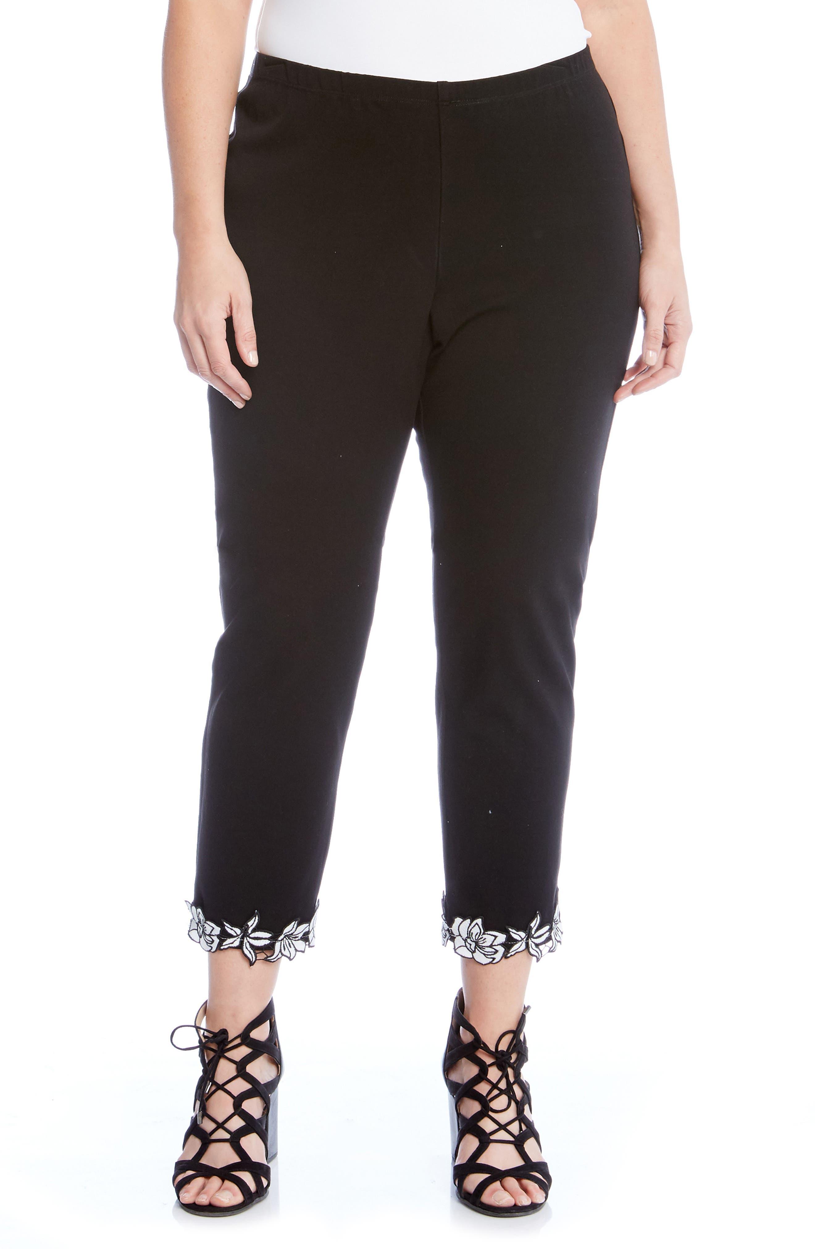 Karen Kane Piper Appliqué Hem Pants (Plus Size)