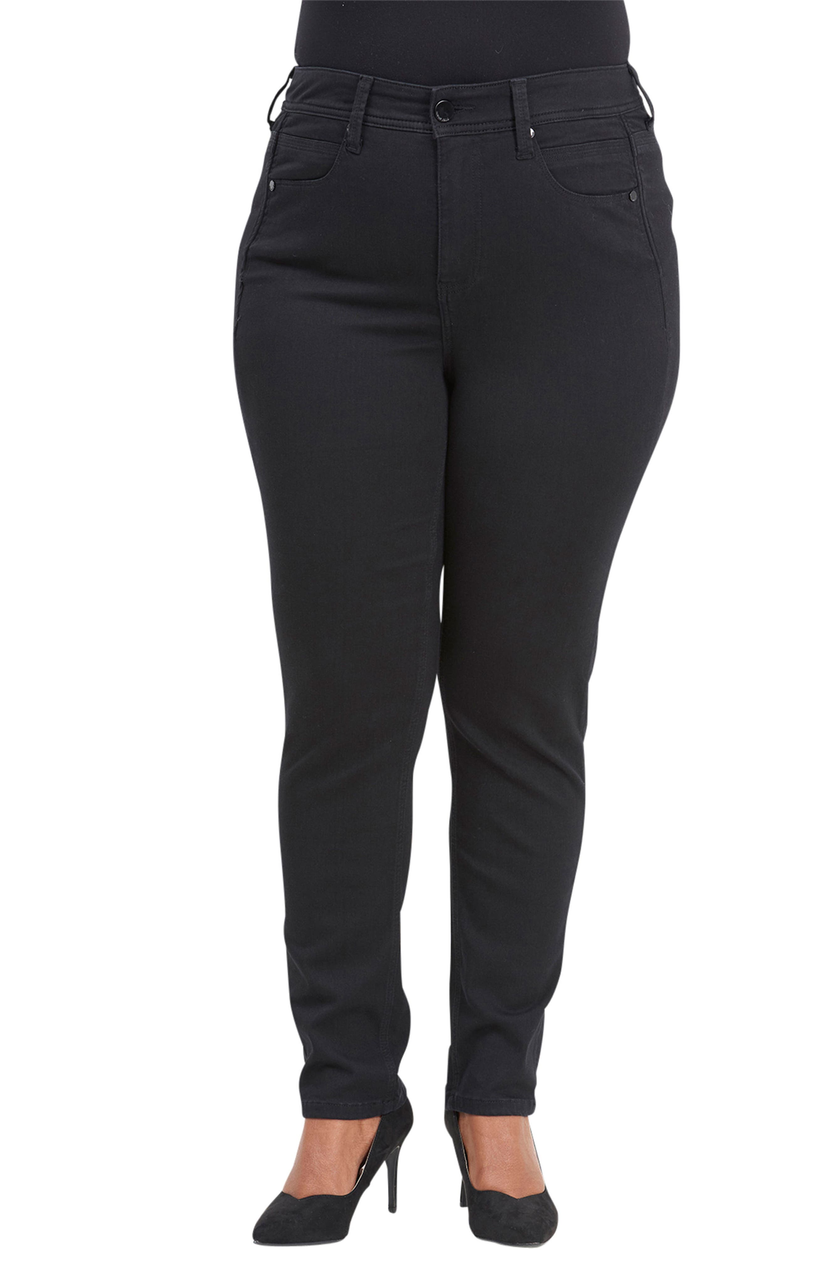 Seven7 Tummyless Skinny Jeans (Nuit) (Plus Size)