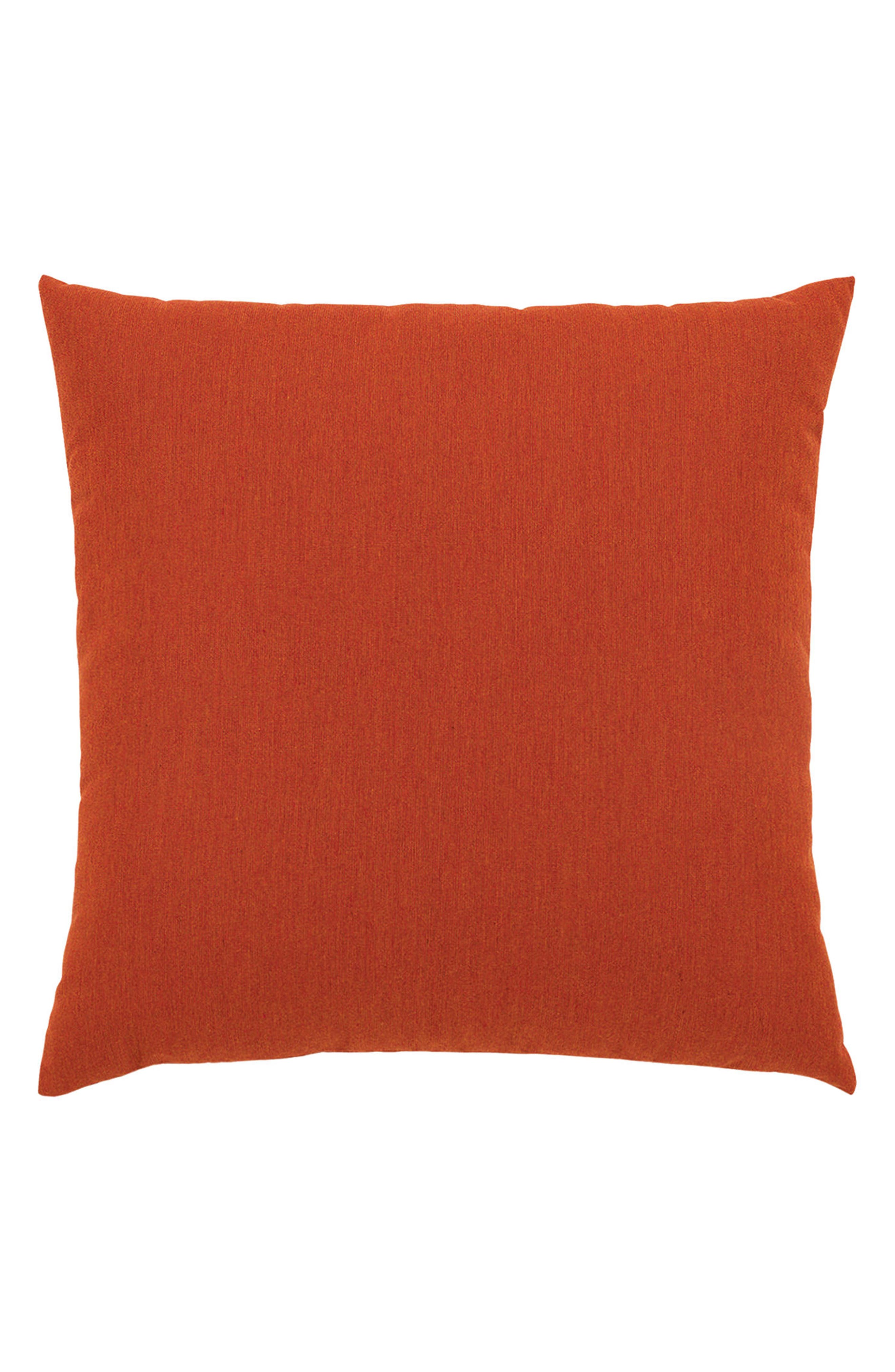 Coral Cruise Indoor/Outdoor Accent Pillow,                             Alternate thumbnail 2, color,                             Orange/ Ivory