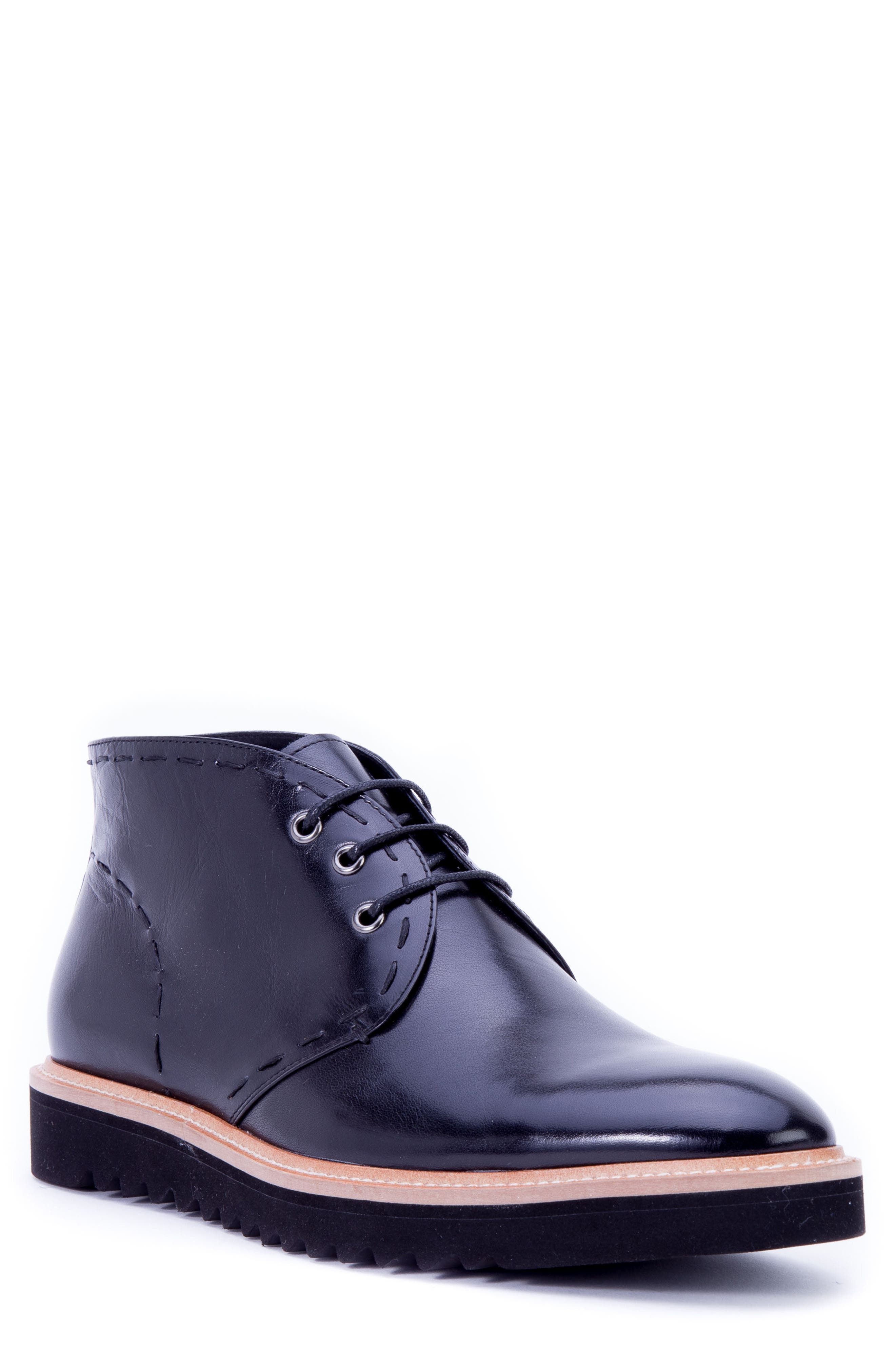 Lombardo Chukka Boot,                         Main,                         color, Black Leather