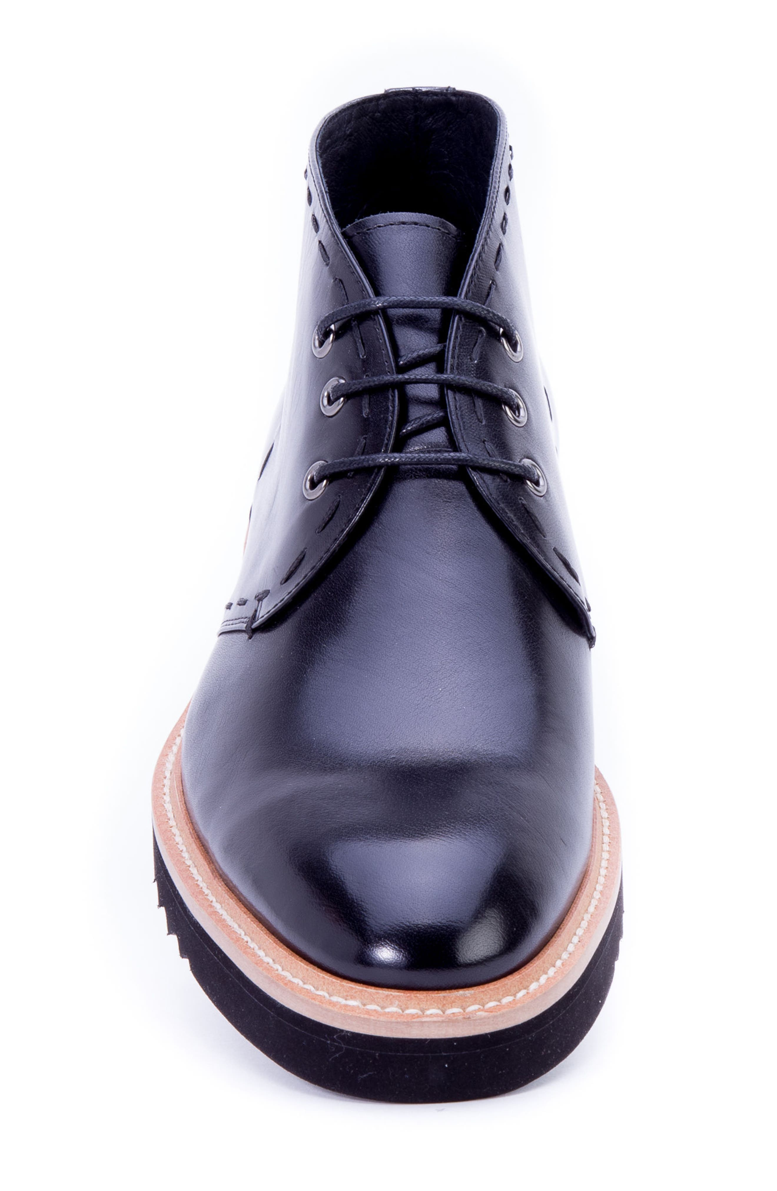 Lombardo Chukka Boot,                             Alternate thumbnail 4, color,                             Black Leather