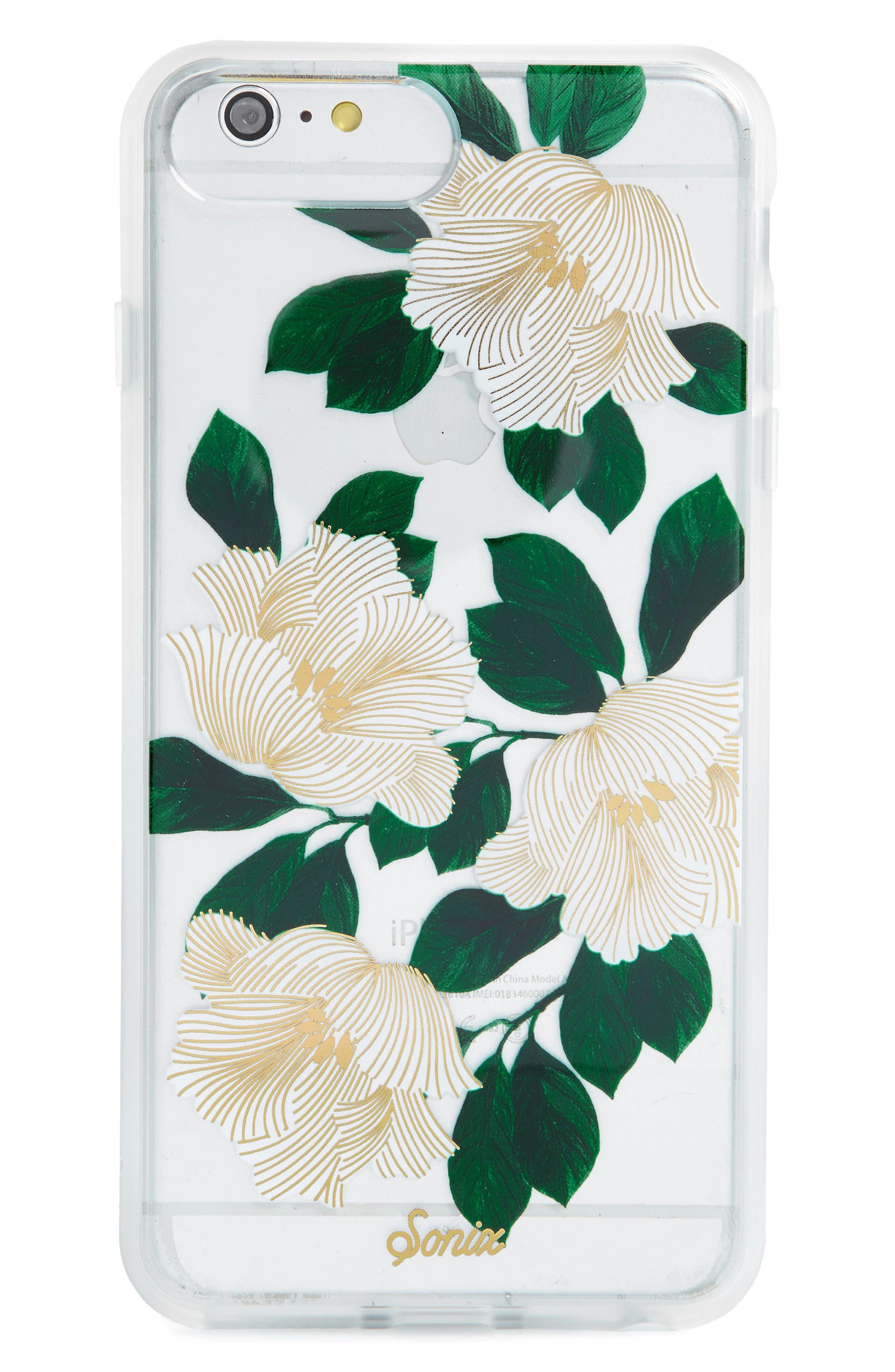 Tropical Deco iPhone 6/6s/7/8 & 6/6s/7/8 Plus Case,                         Main,                         color, White