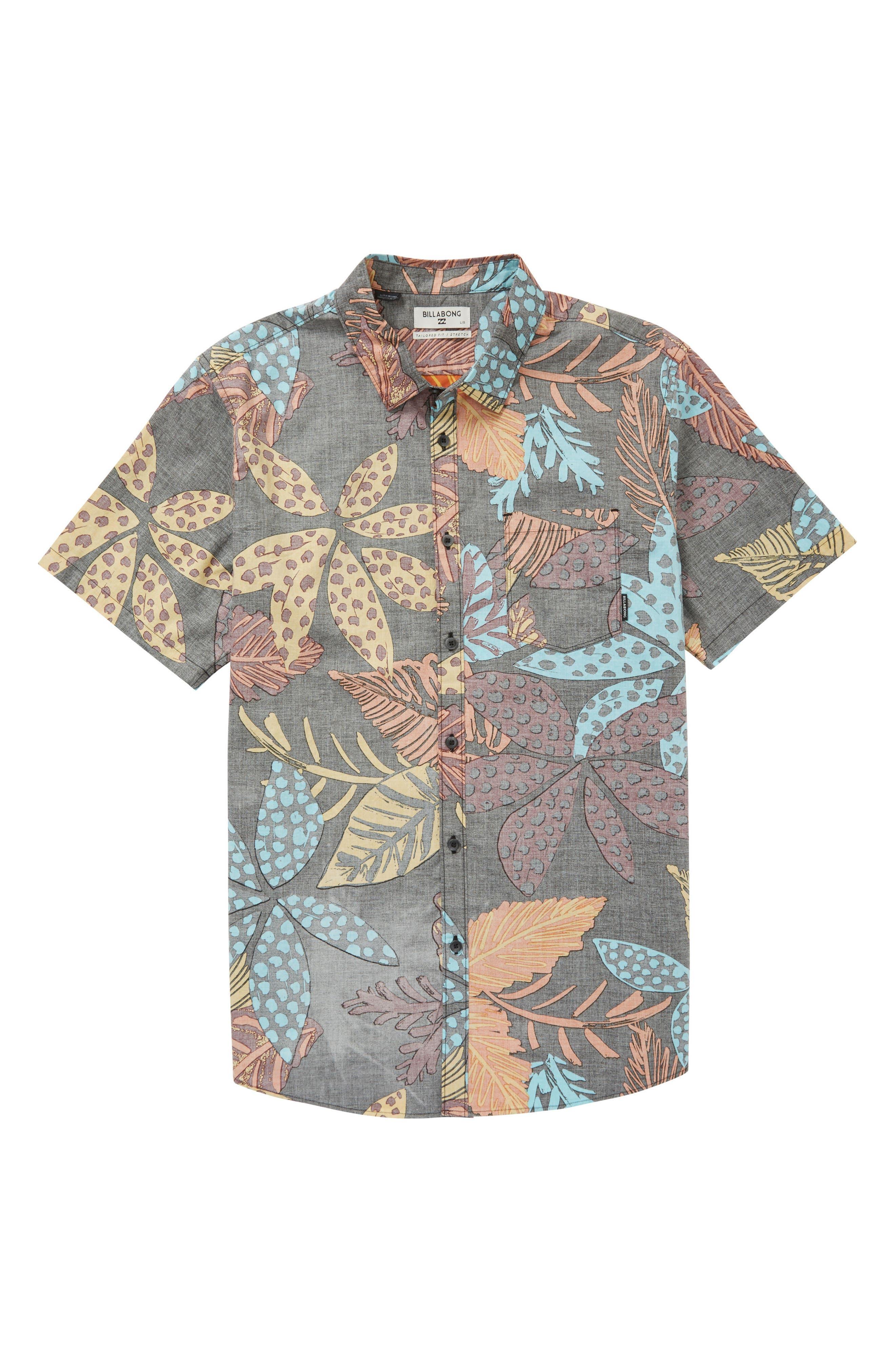 Floral Woven Shirt,                             Main thumbnail 1, color,                             Midnight