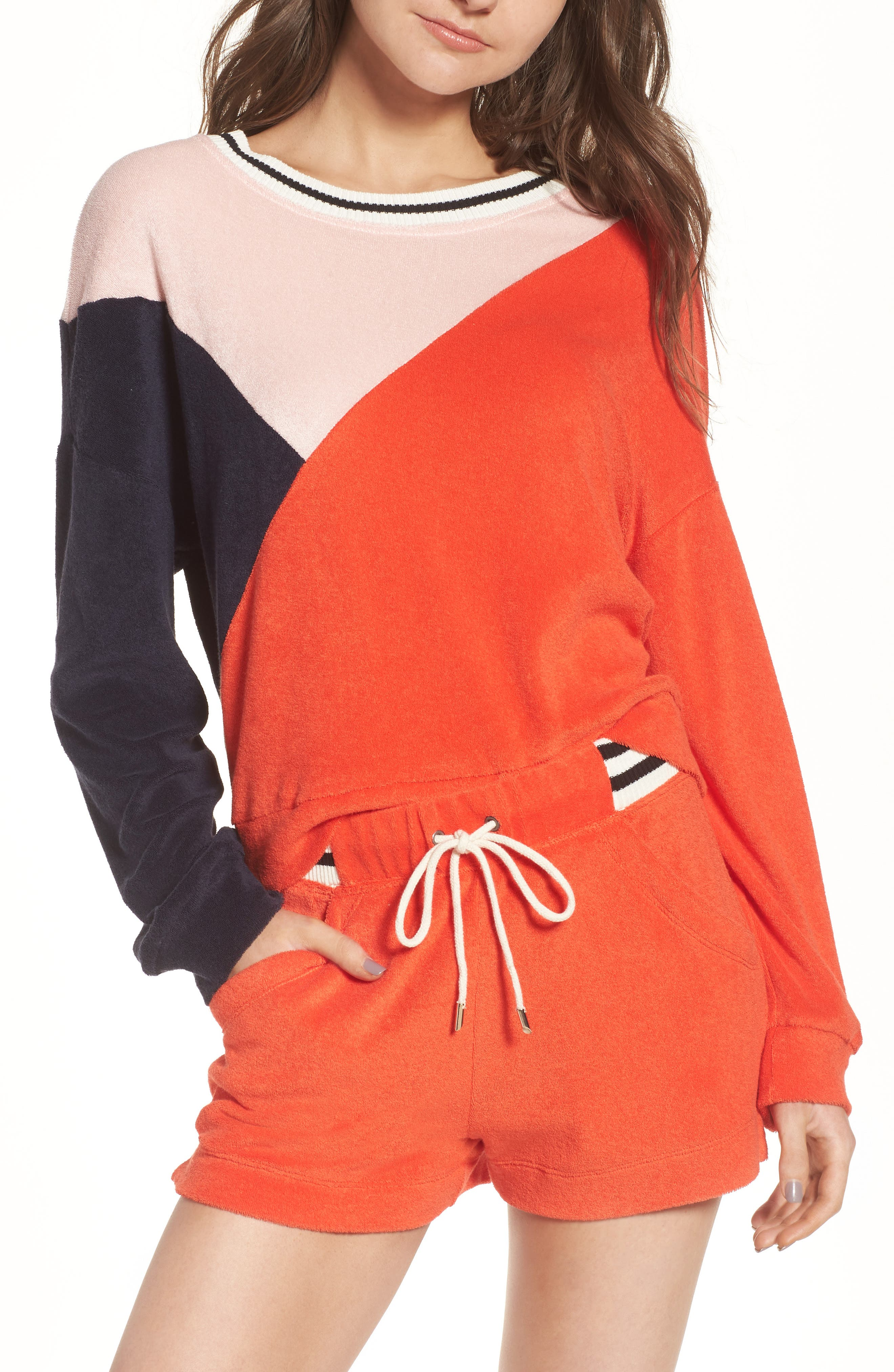 x Margherita Sportivo French Terry Sweatshirt,                         Main,                         color, Red