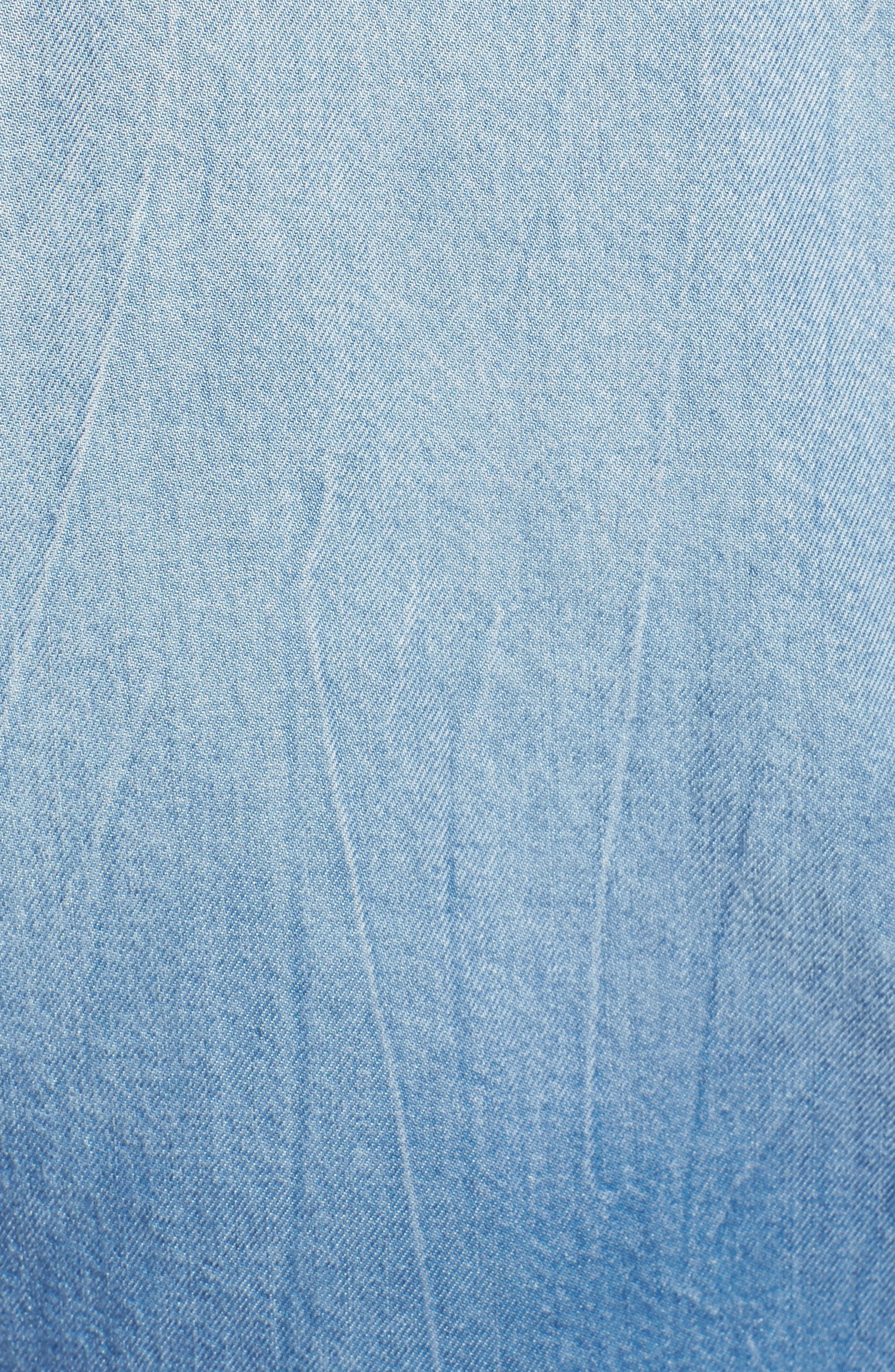 x Margherita Roma Indigo Shirt,                             Alternate thumbnail 5, color,                             Cielo Wash