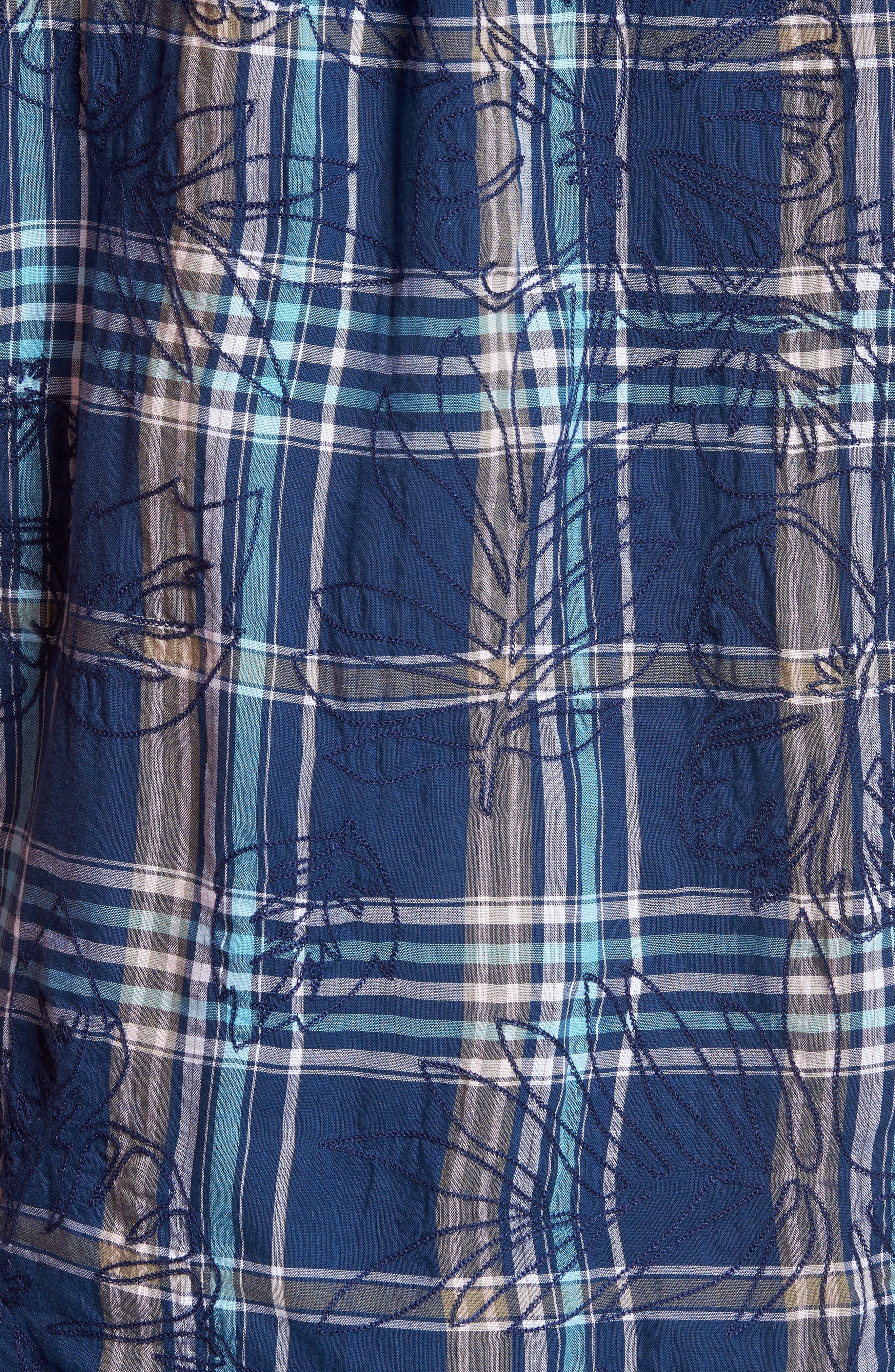 Alternate Image 5  - Tommy Bahama Palazzo Regular Fit Plaid Sport Shirt