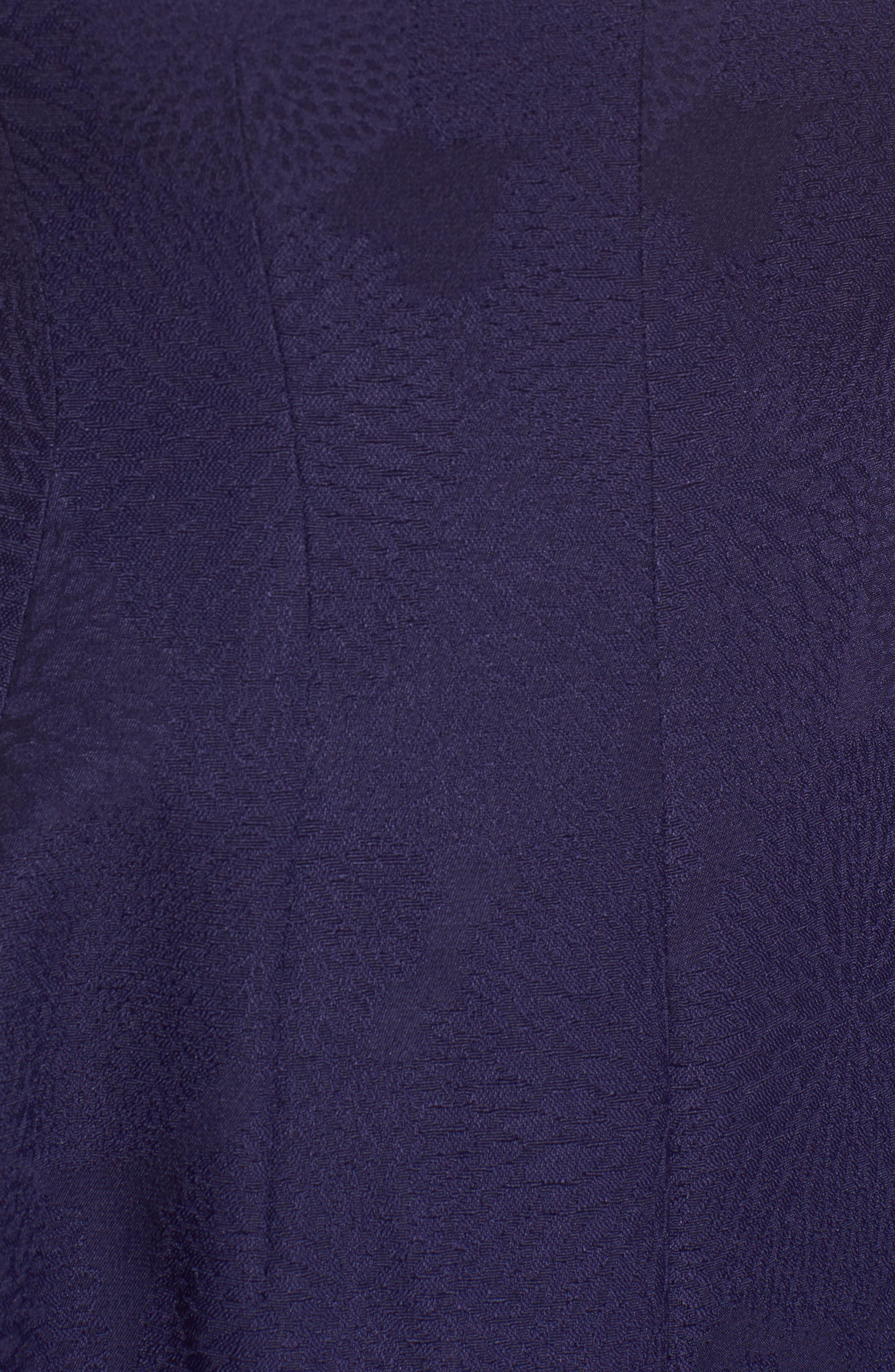 Jacquard Fit & Flare Dress,                             Alternate thumbnail 5, color,                             Monaco