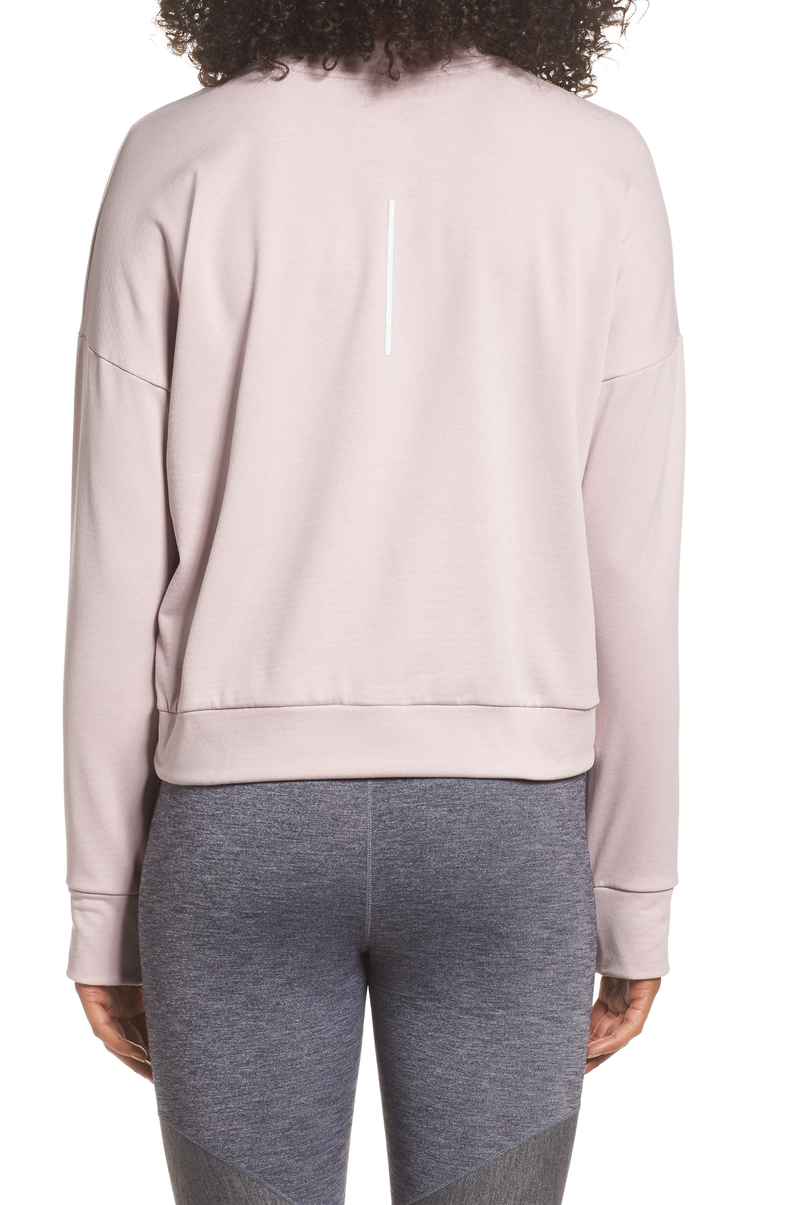 Therma Sphere Element Women's Running Top,                             Alternate thumbnail 2, color,                             Particle Rose